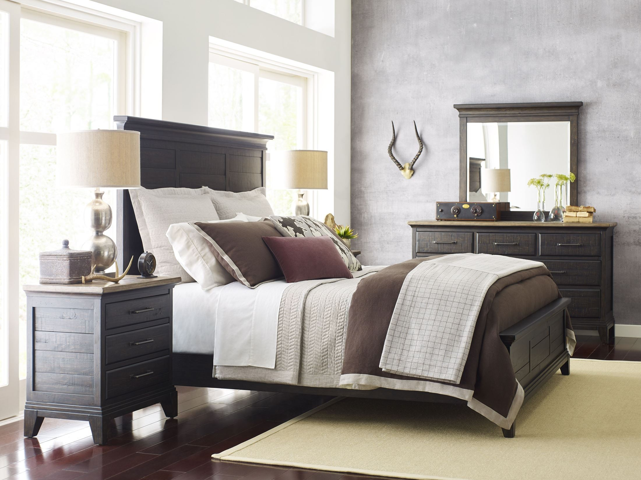 Plank road charcoal jessup panel bedroom set from kincaid - Kincaid bedroom furniture for sale ...