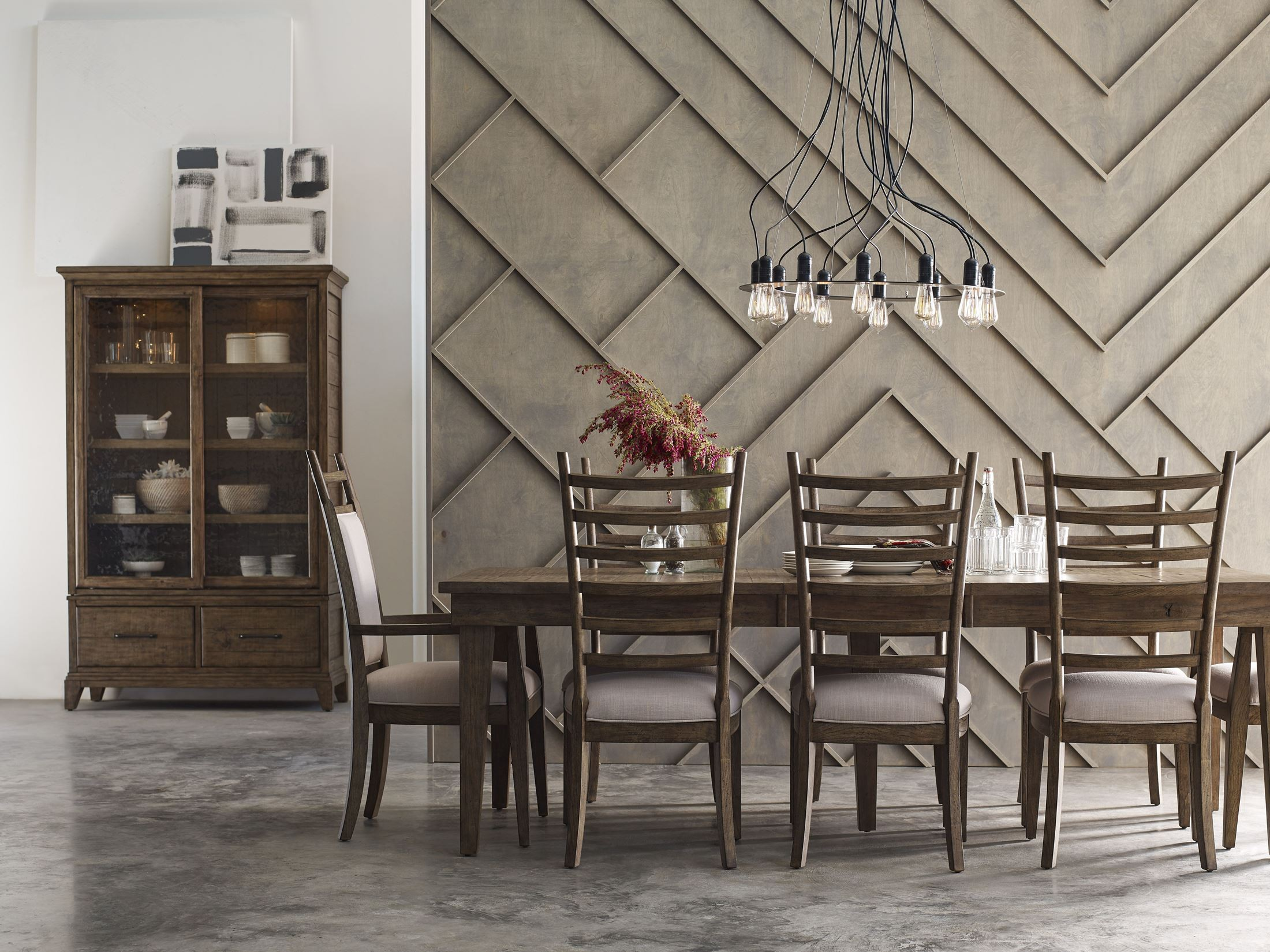 Plank Road Stone Rankin Extendable Rectangular Dining Room Set From Kincaid  | Coleman Furniture