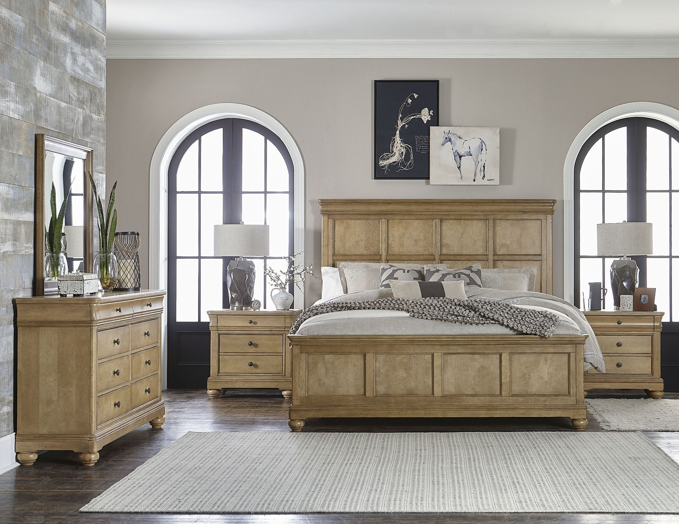 ashby woods aged birch panel bedroom set from legacy classic coleman furniture