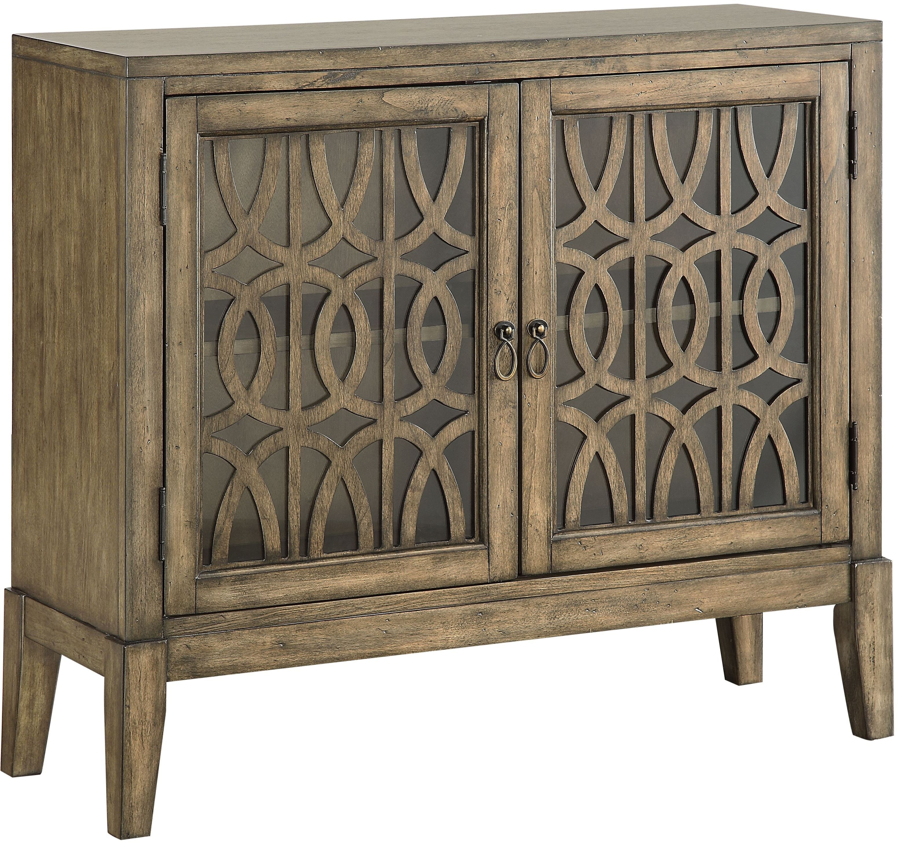 Distressed Kitchen Cabinet Doors: Distressed Parchment 2 Door Cabinet From Coast To Coast