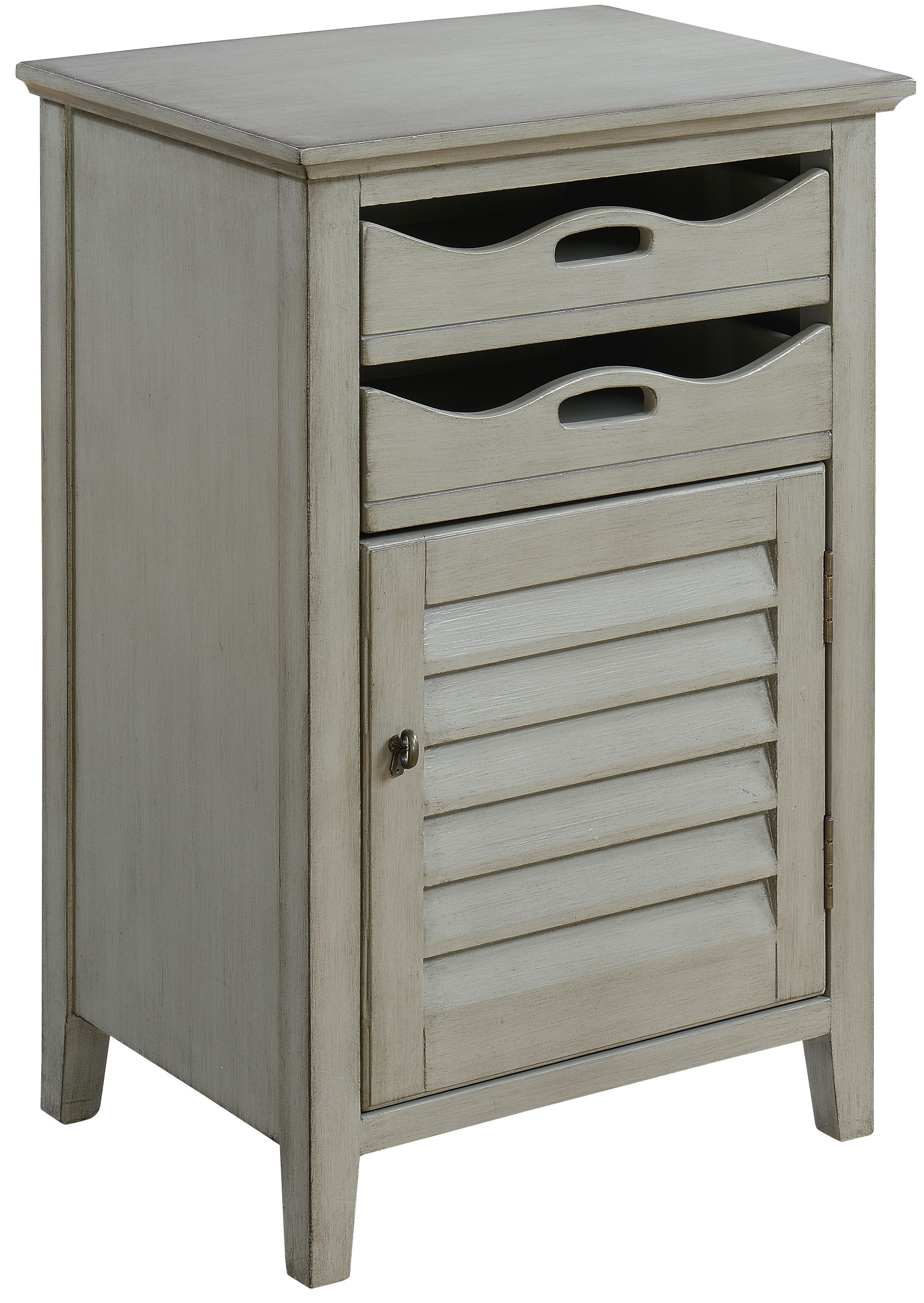 Madrillon Burnished Grey One Door 2 Drawer Cabinet From