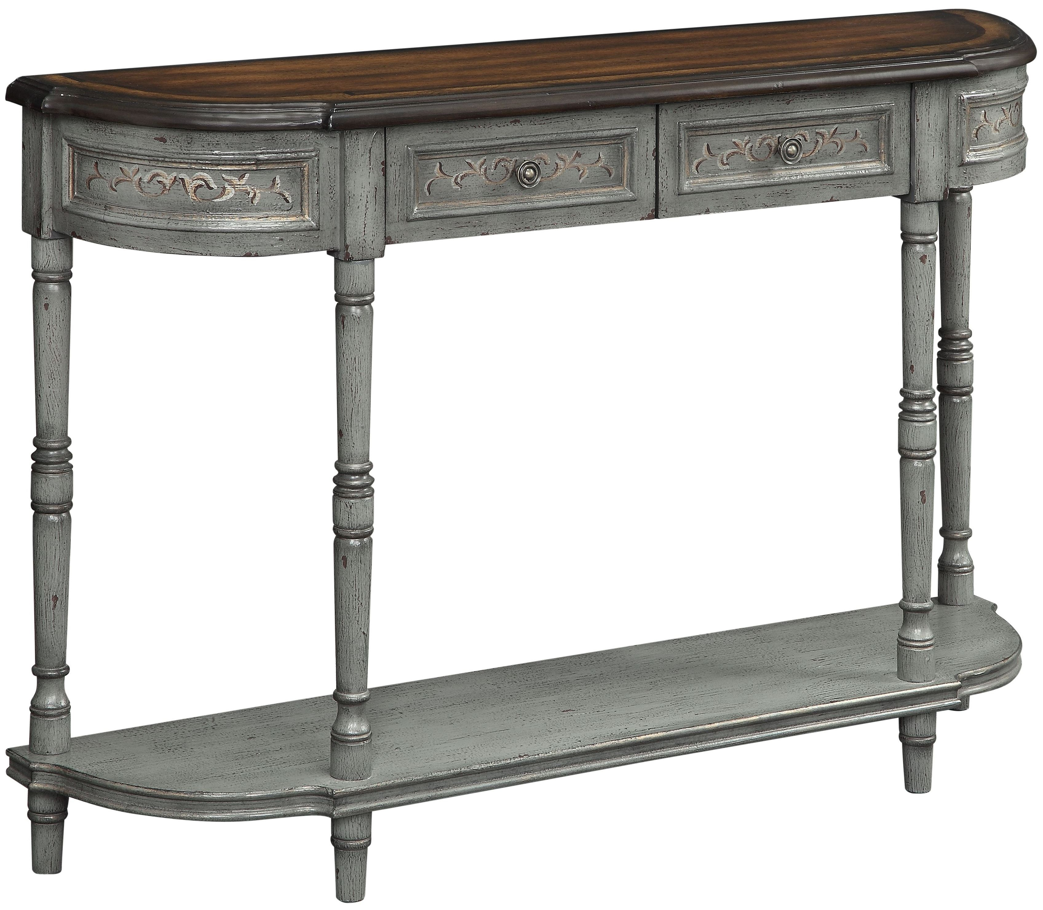 Markham grey frame drawer console table from coast to