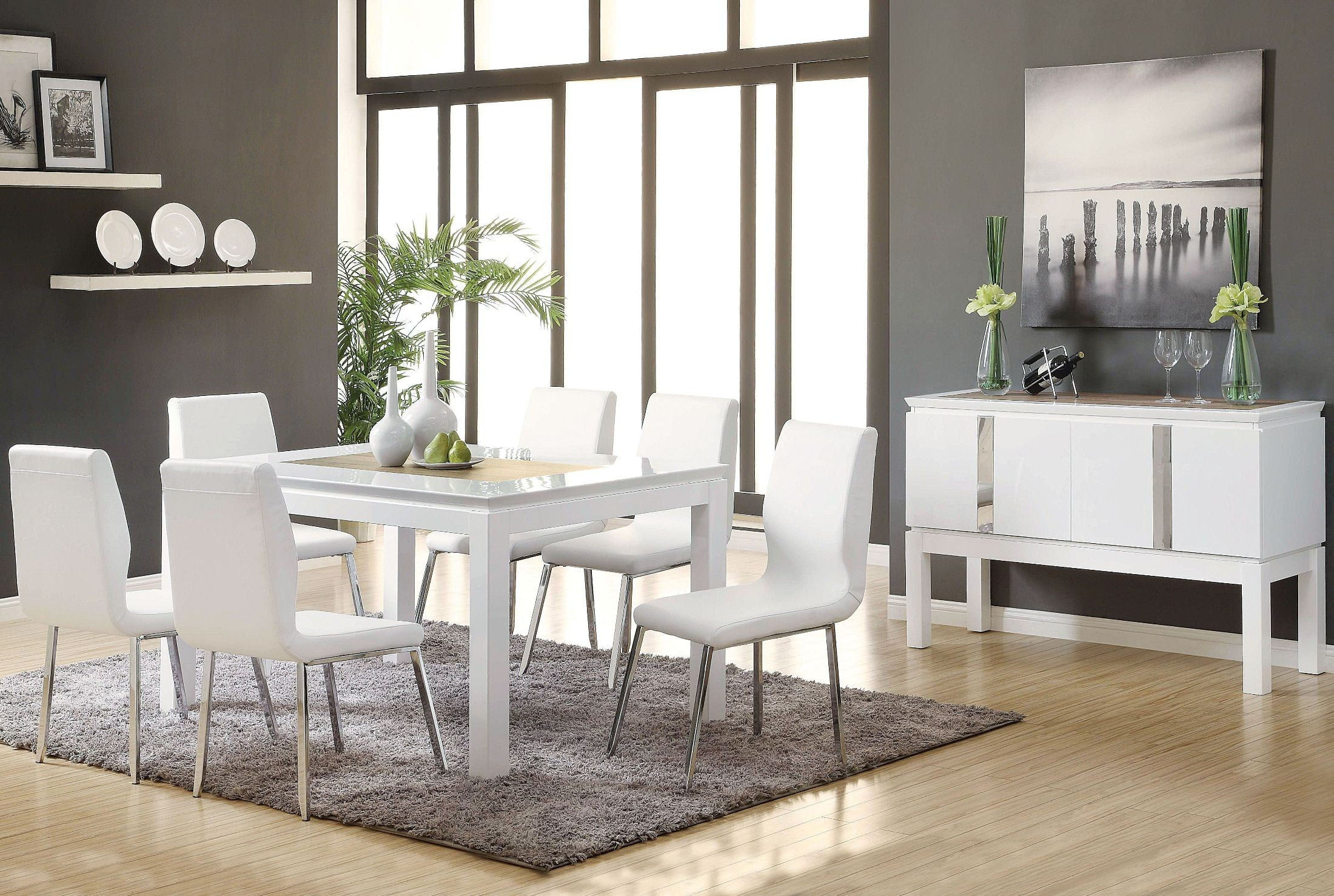 Kilee White Rectangular Dining Room Set from Acme | Coleman Furniture