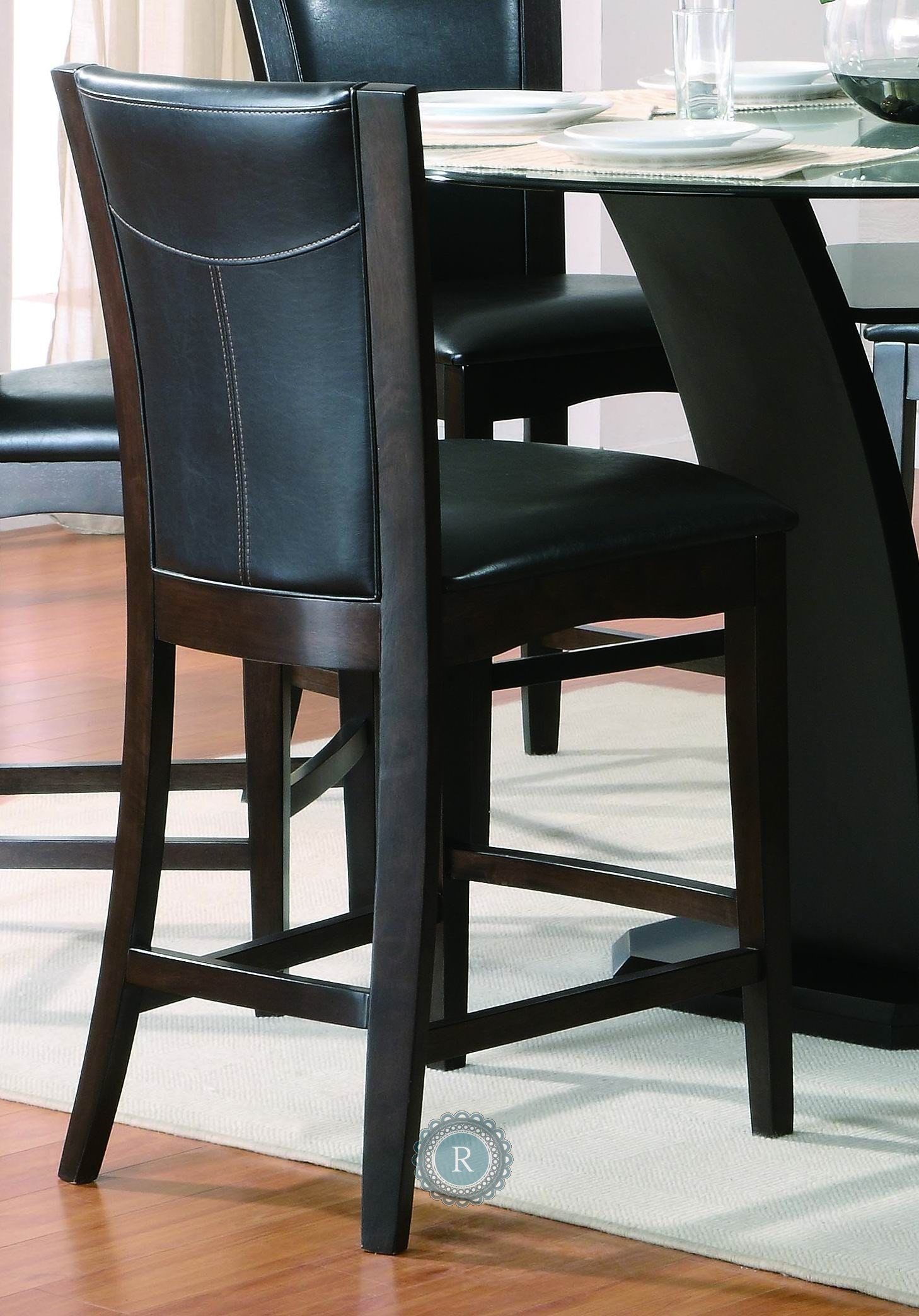 Daisy Black Counter Height Chair From Homelegance 710 24