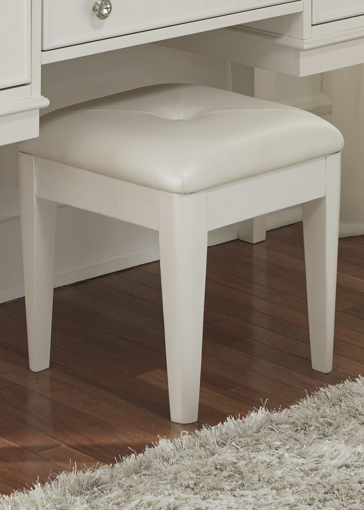 Stardust Iridescent White Vanity Bench From Liberty 710 Br48 Coleman Furniture