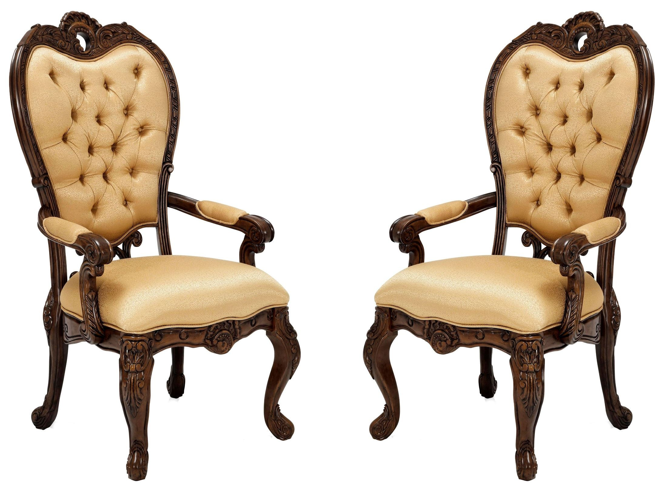Palais Royale Fabric Arm Chair Set Of 2 From Aico 71004