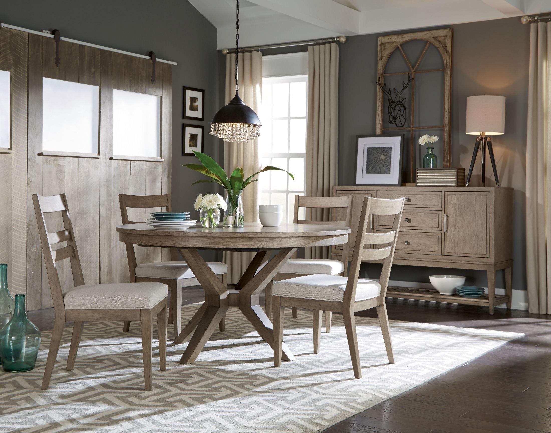Bridgewater Weathered Oak Round Extendable Leg Dining Room