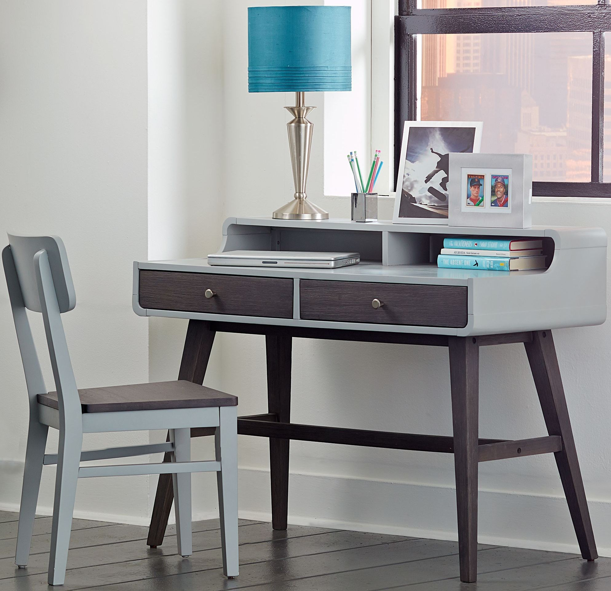East End Grey Desk With Chair From Ne Kids Coleman Furniture