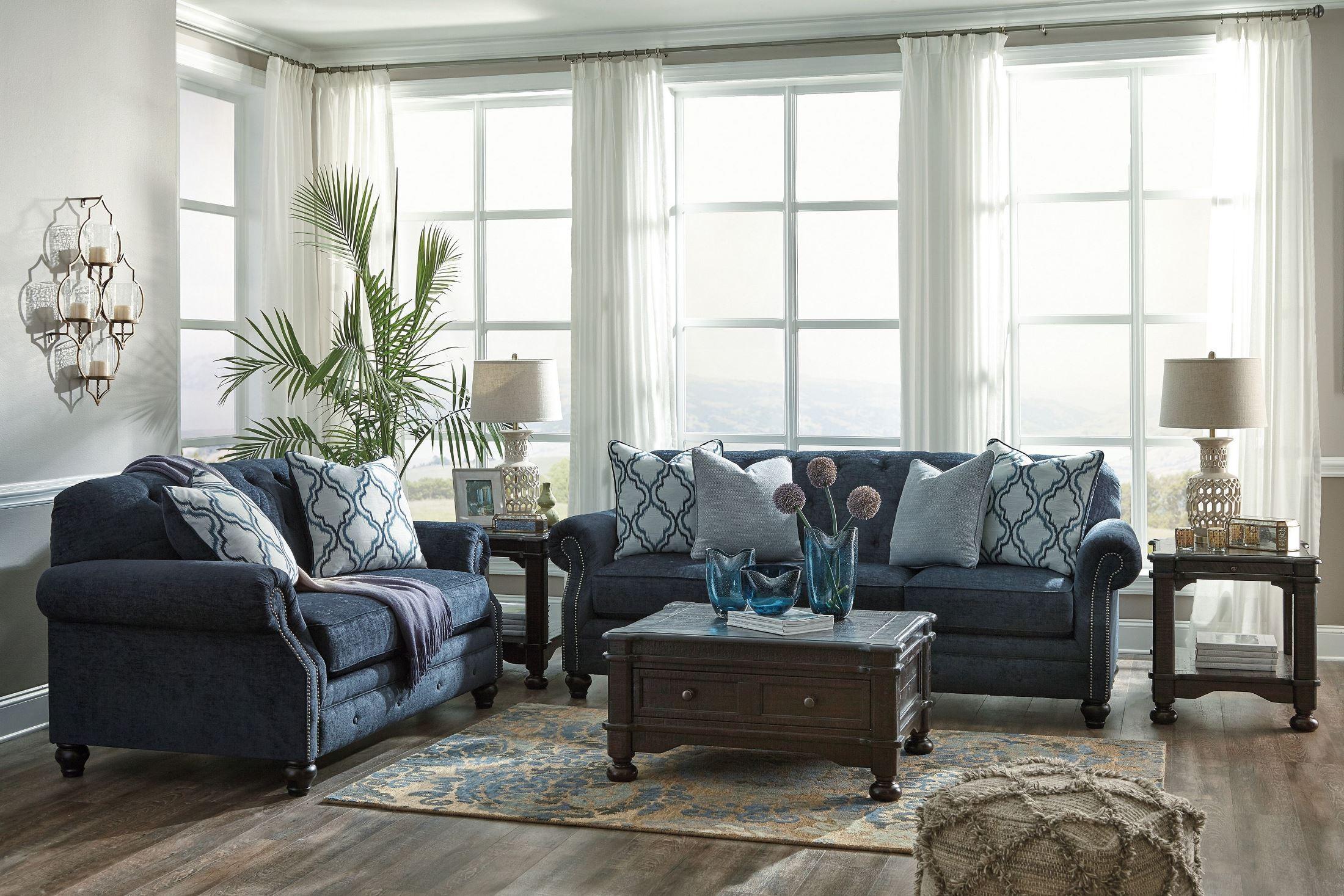 LaVernia Navy Sofa from Ashley