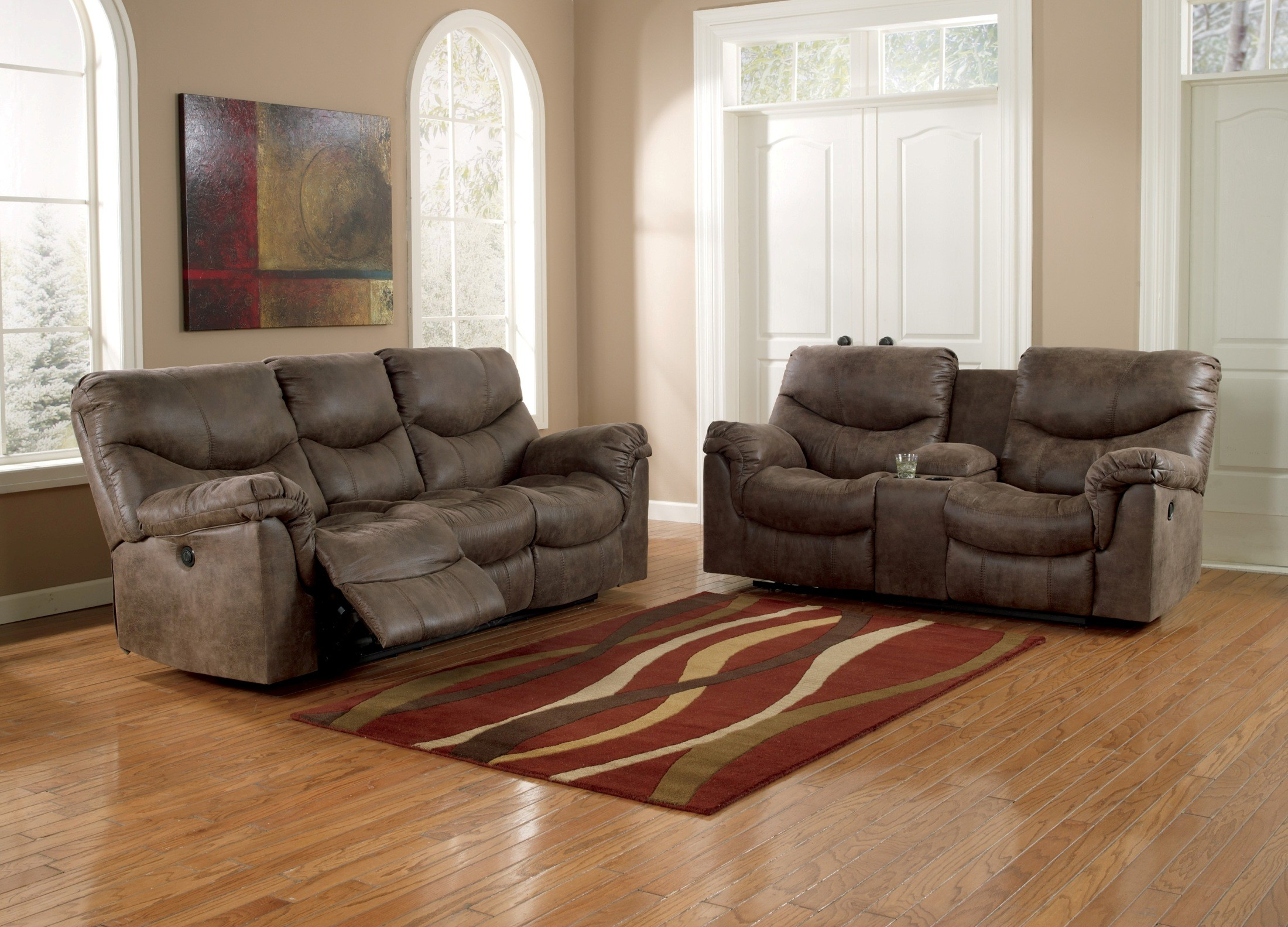 Alzena Double Reclining Loveseat With Console From Ashley