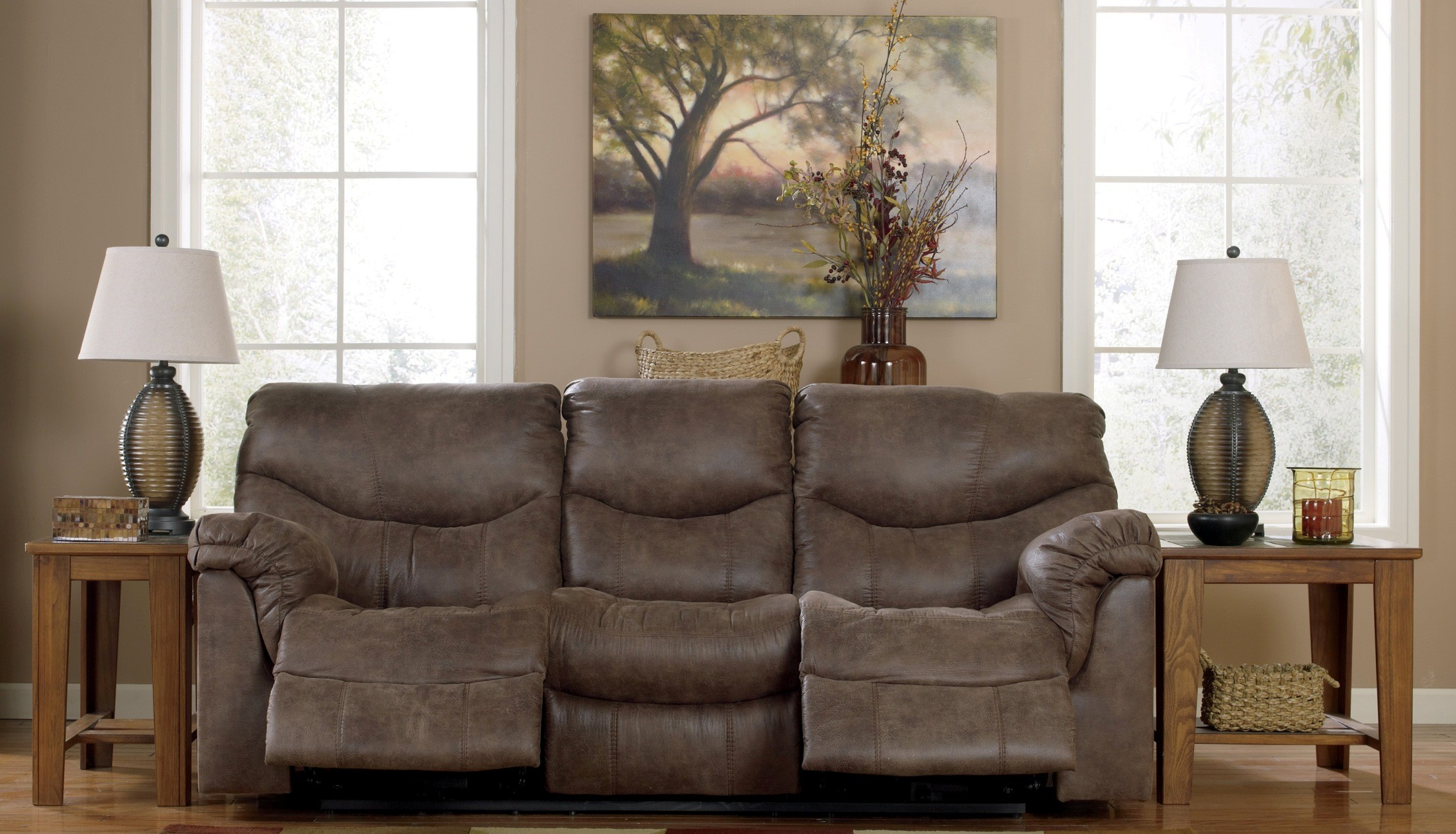 Alzena Power Reclining Living Room Set From Ashley 71400