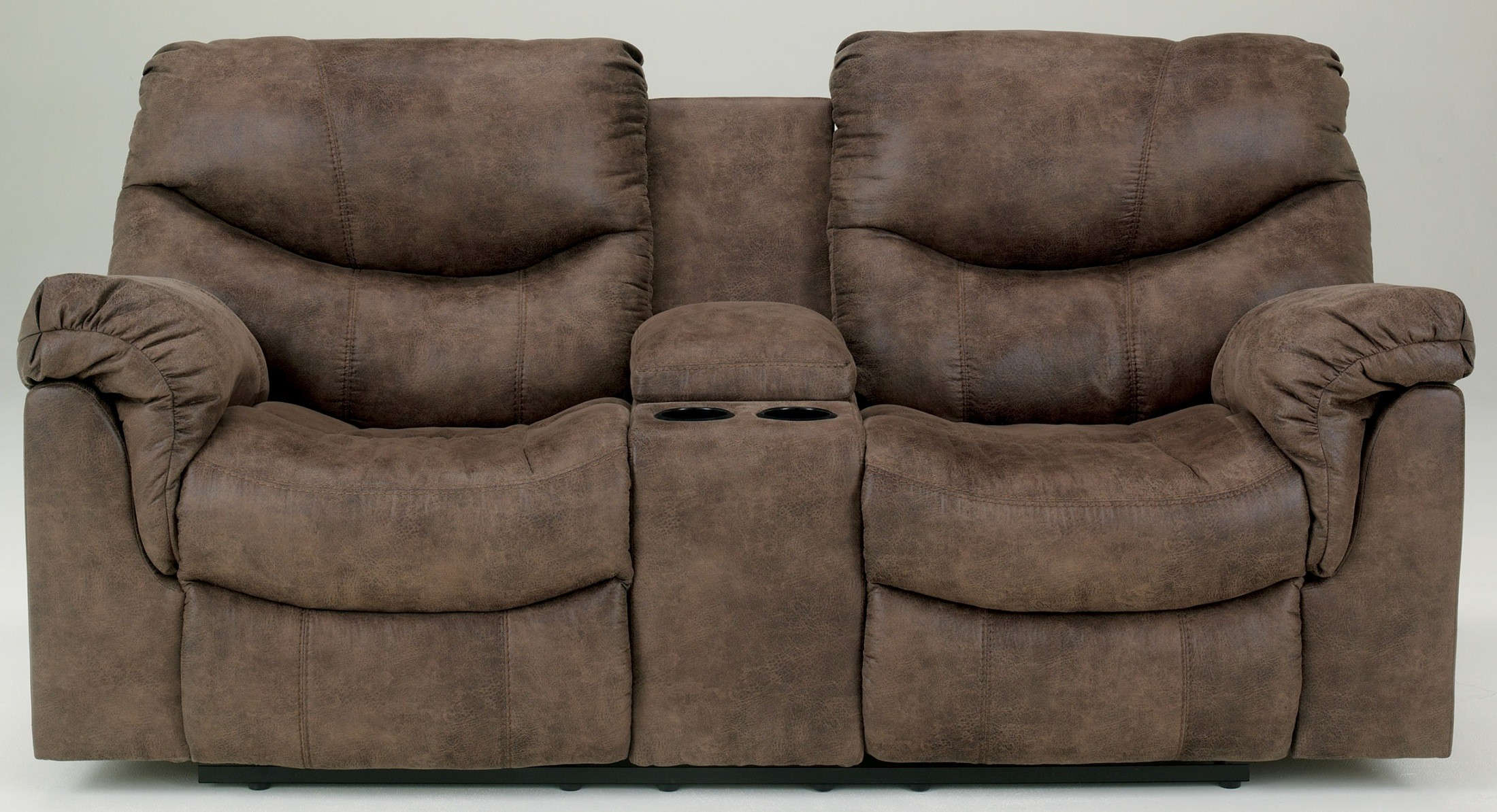 Alzena double reclining loveseat with console from ashley 7140094 coleman furniture Loveseats with console