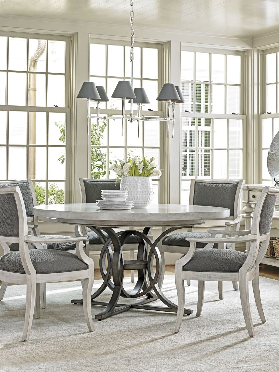 Oyster Bay Calerton Extendable Round Dining Table From