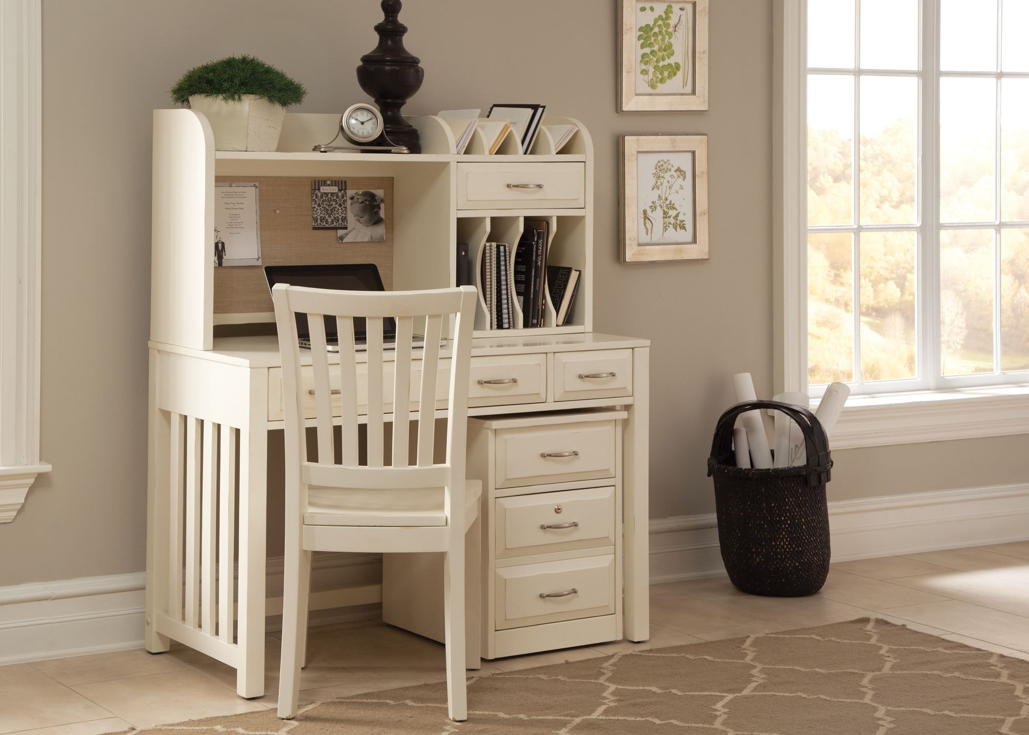 Hampton Bay White Writing Desk With Hutch. Hampton Bay White Home Office  Collection From Liberty Furniture