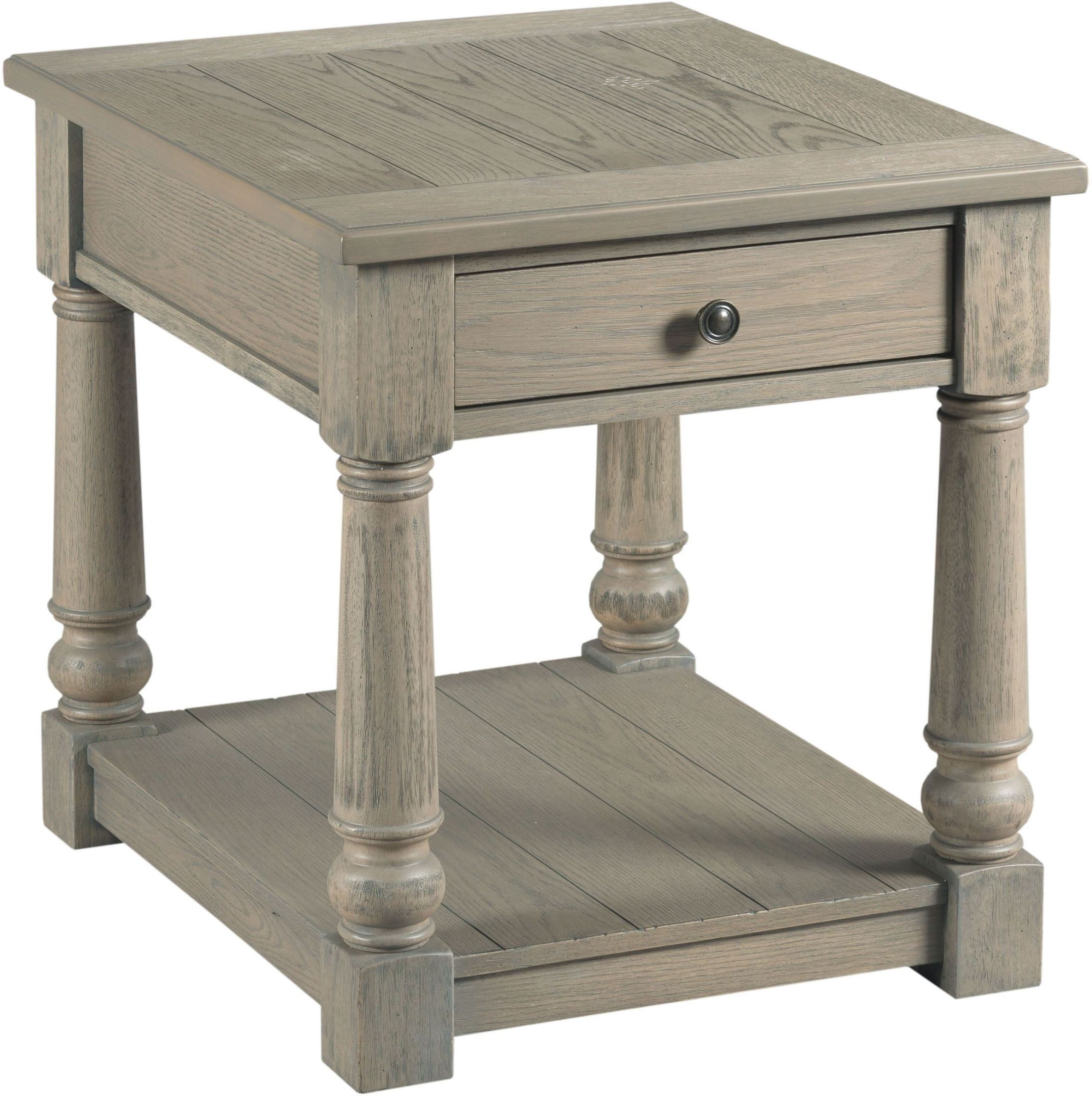 Outland Taupe Gray Rectangular Storage Occasional Table Set from