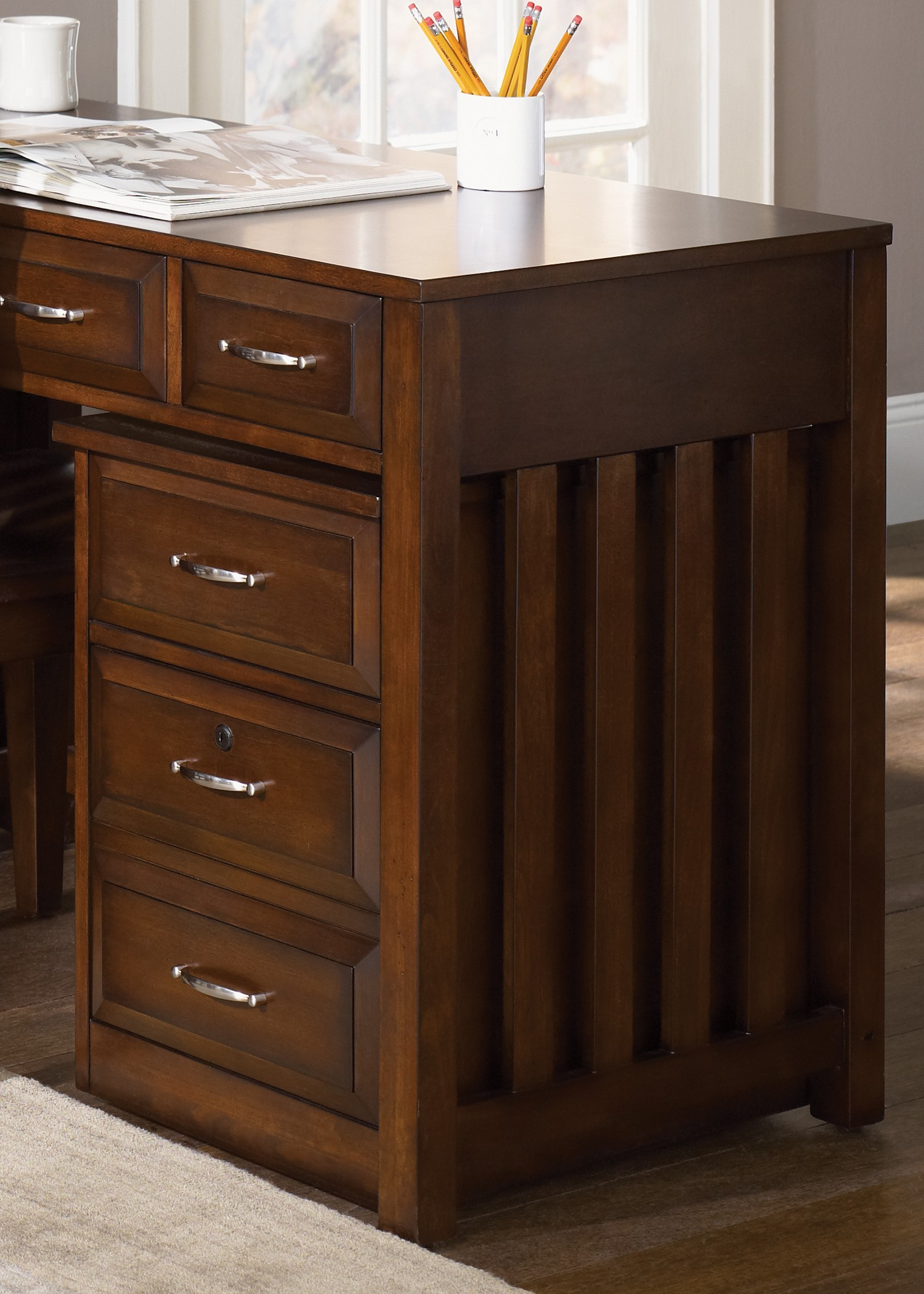 Hampton Bay Cherry Mobile File Cabinet From Liberty 718