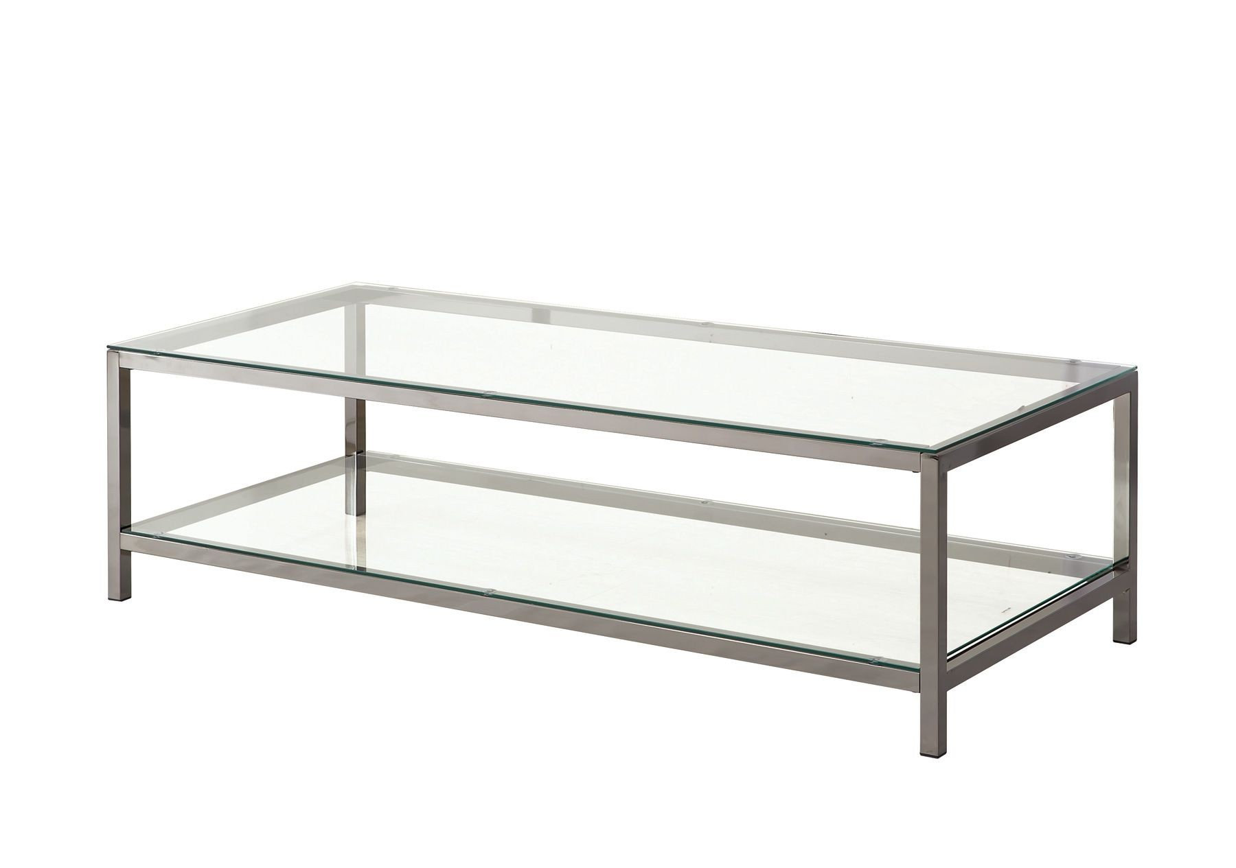 720228 Black Nickel Rectangular Coffee Table From Coaster 720228 Coleman Furniture