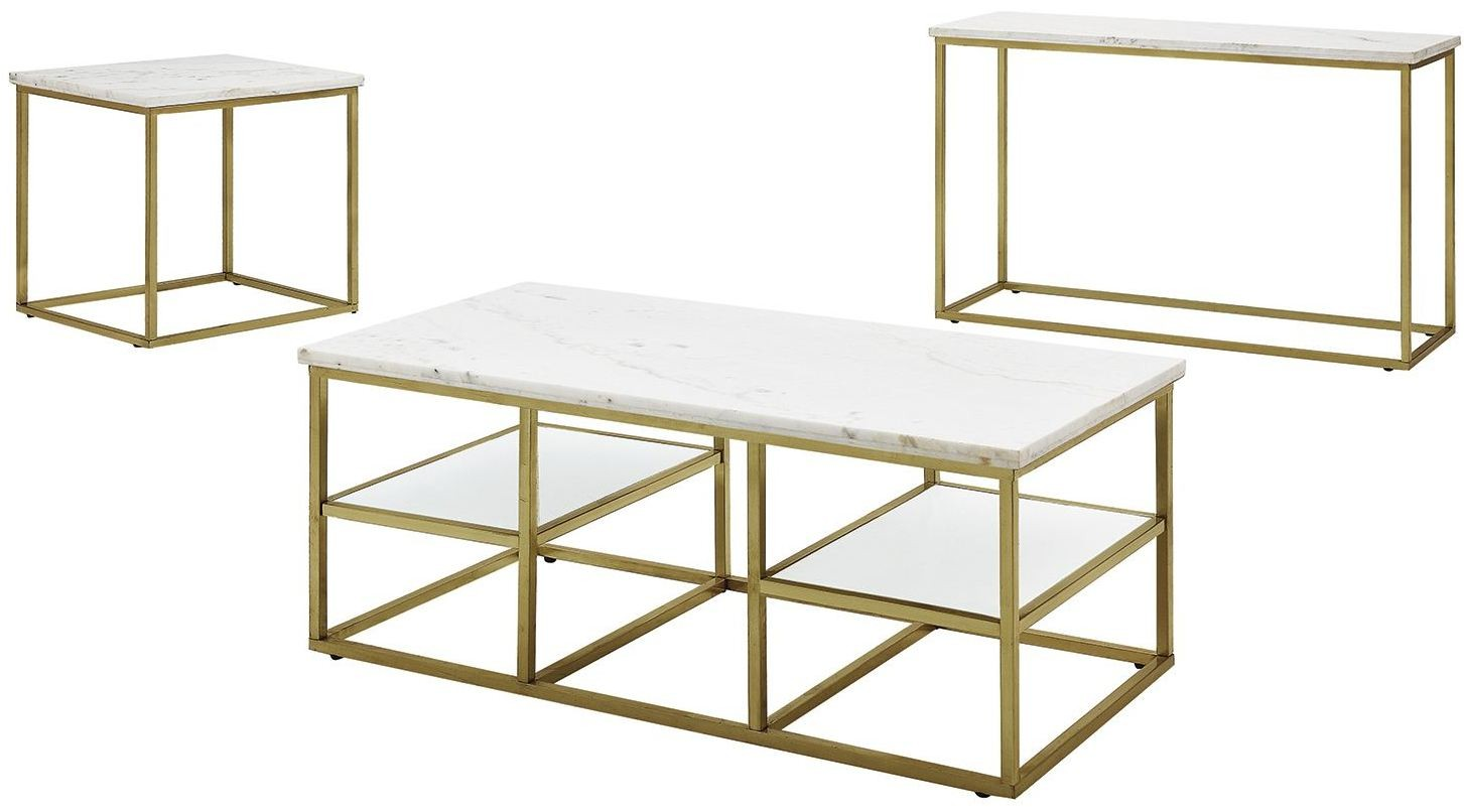 Isabelle Marble Top Occasional Table Set by Donny Osmond from ...
