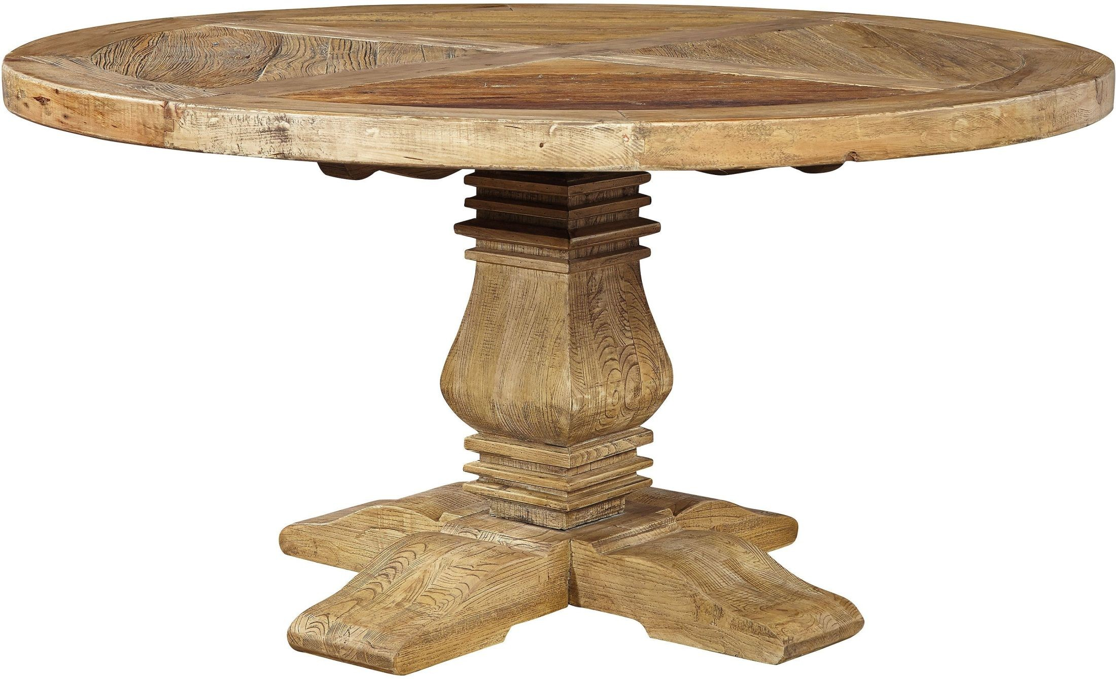 Manor house distressed round dining table from furniture for Distressed round dining table