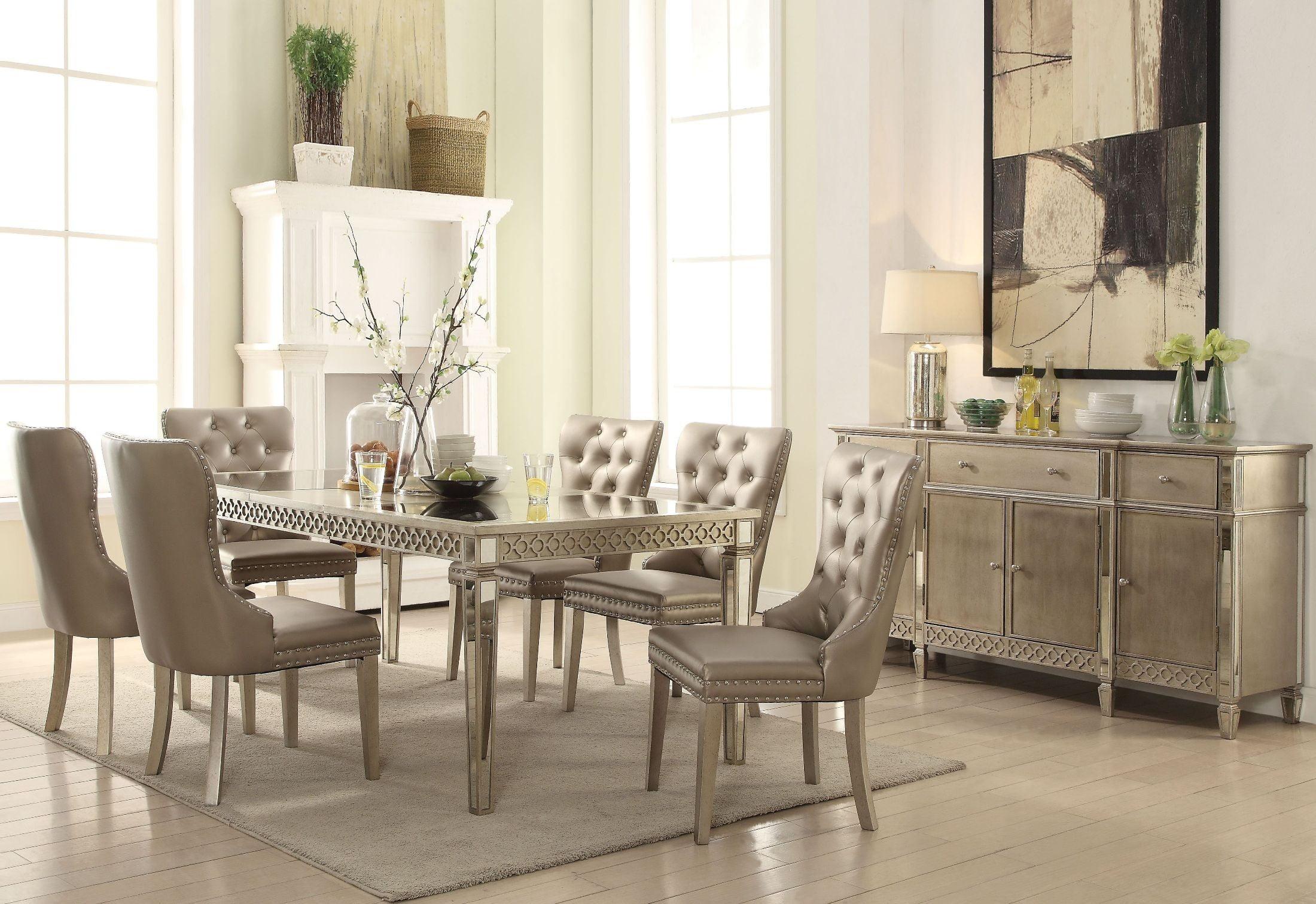 Kacela Champagne Dining Room Set from Acme | Coleman Furniture