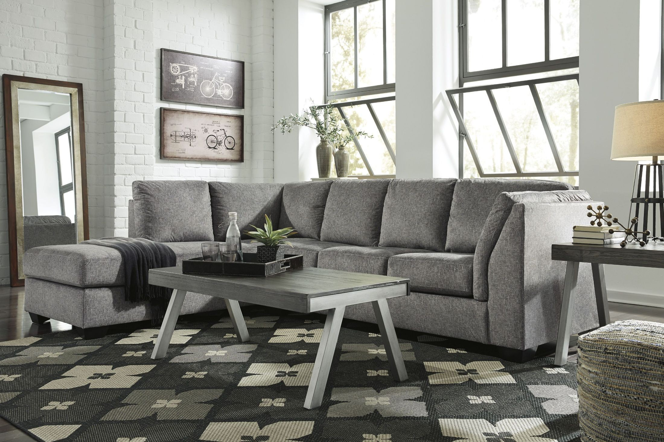 belcastel ash laf sectional from ashley coleman furniture