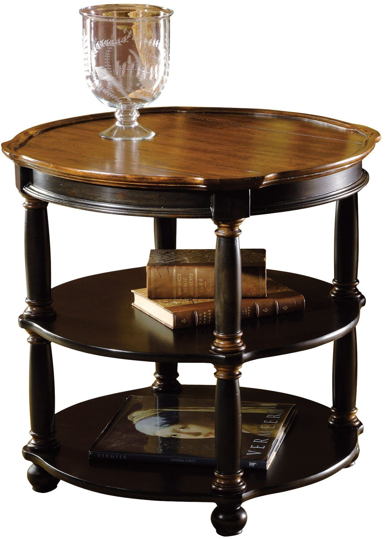 Tuscan Estates Brown Round Library Table From Hekman