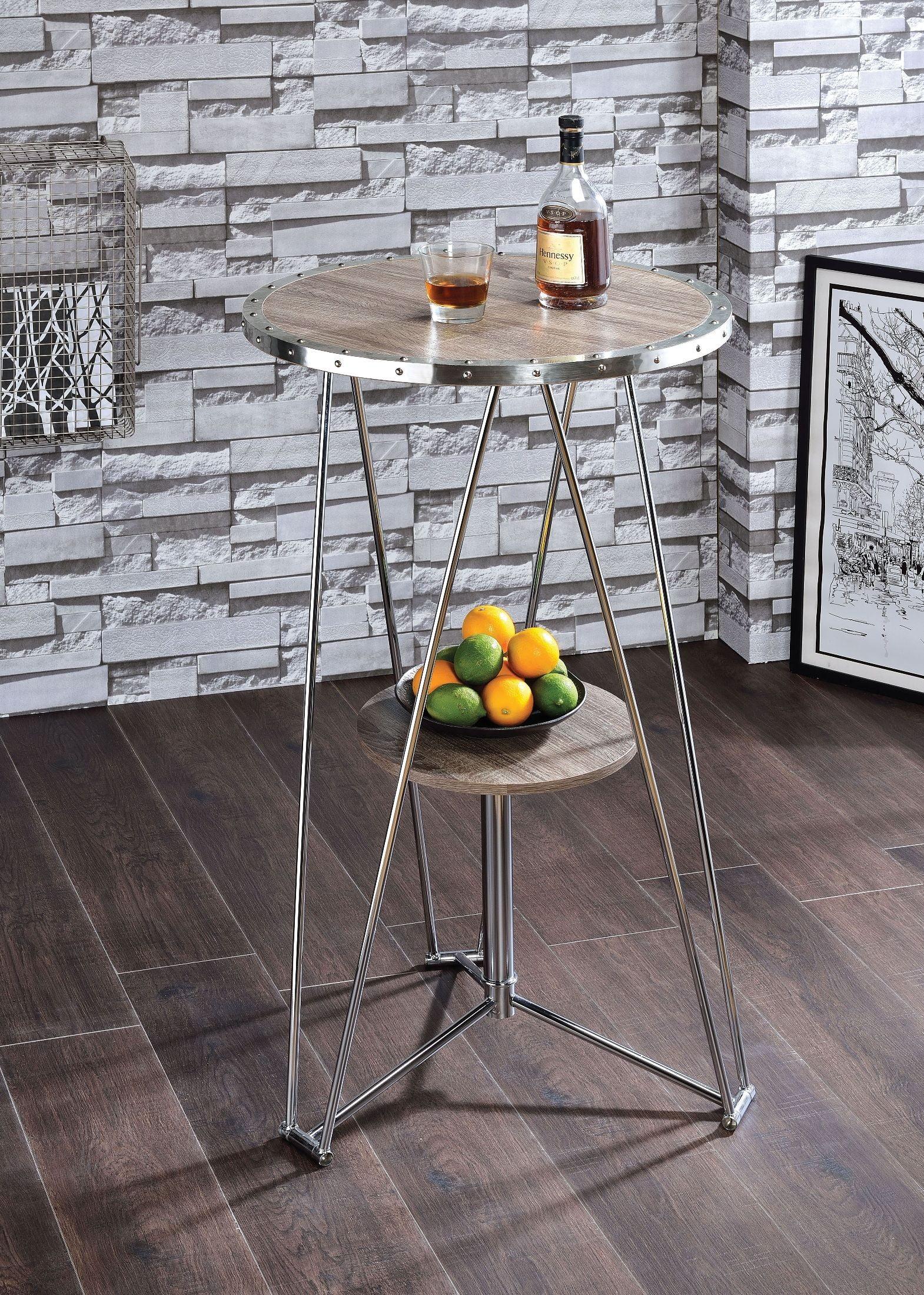 Jarvis Gray Oak Bar Table