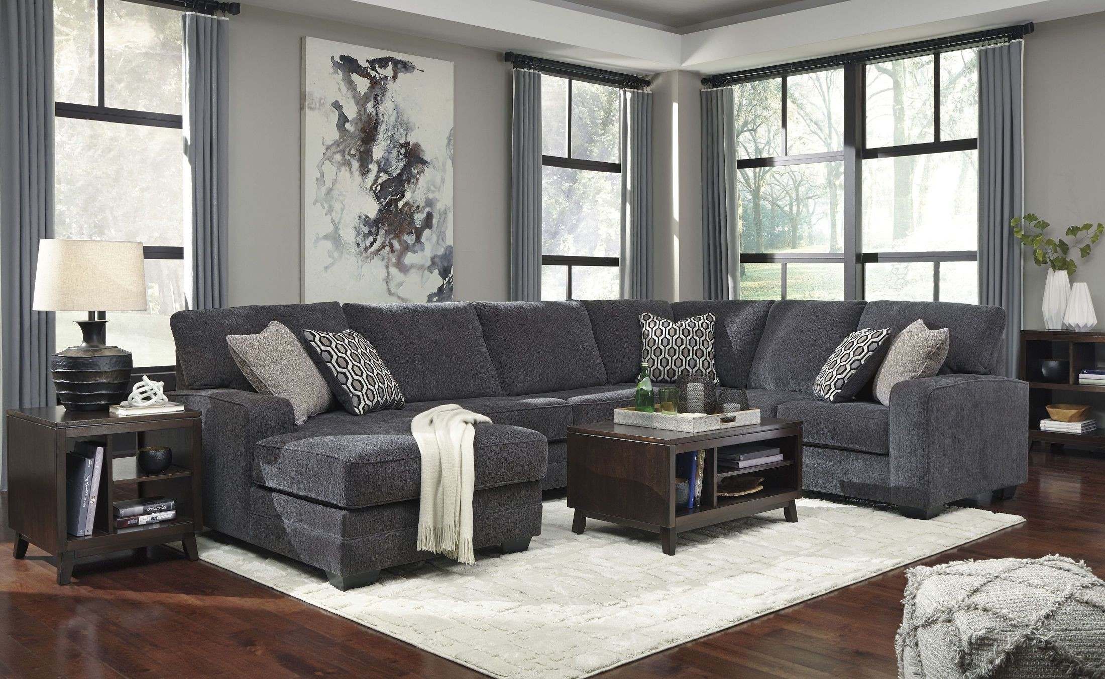 Tracling Slate Laf Sectional From Ashley Coleman Furniture