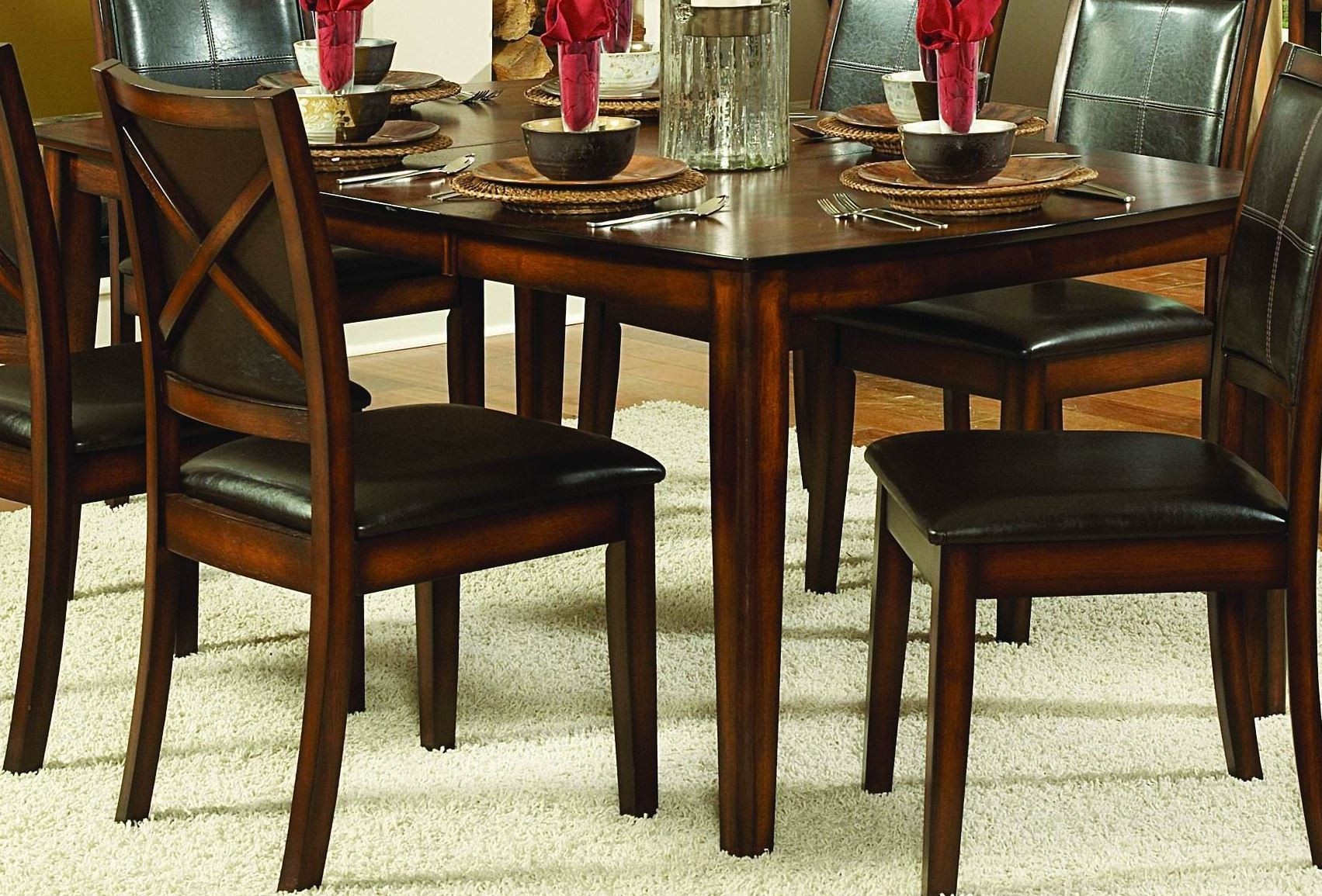 Verona Extendable Dining Table from Homelegance 727 72  : 727 7211 from colemanfurniture.com size 1703 x 1155 jpeg 511kB