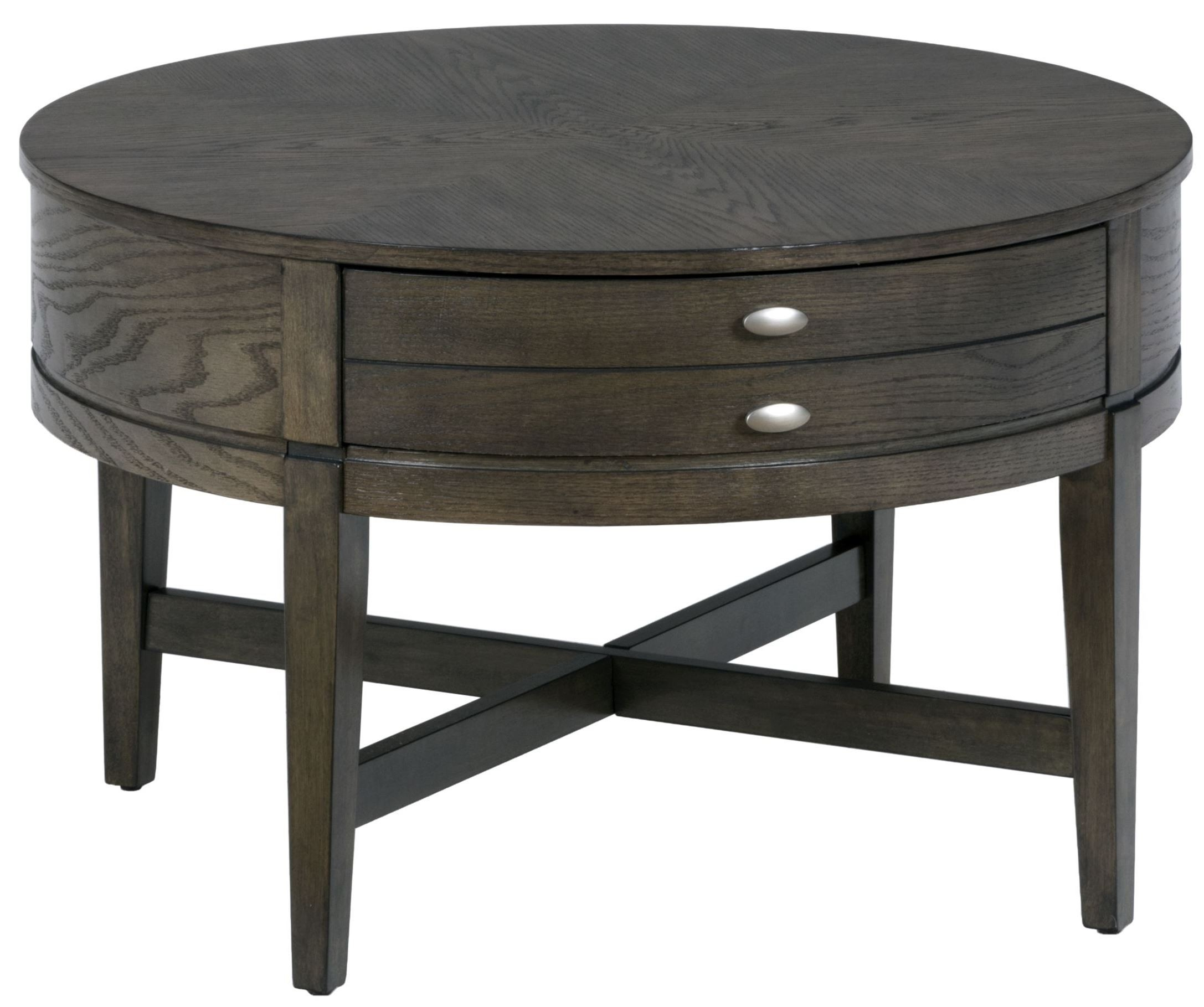 antique grey round cocktail table from jofran coleman furniture. Black Bedroom Furniture Sets. Home Design Ideas