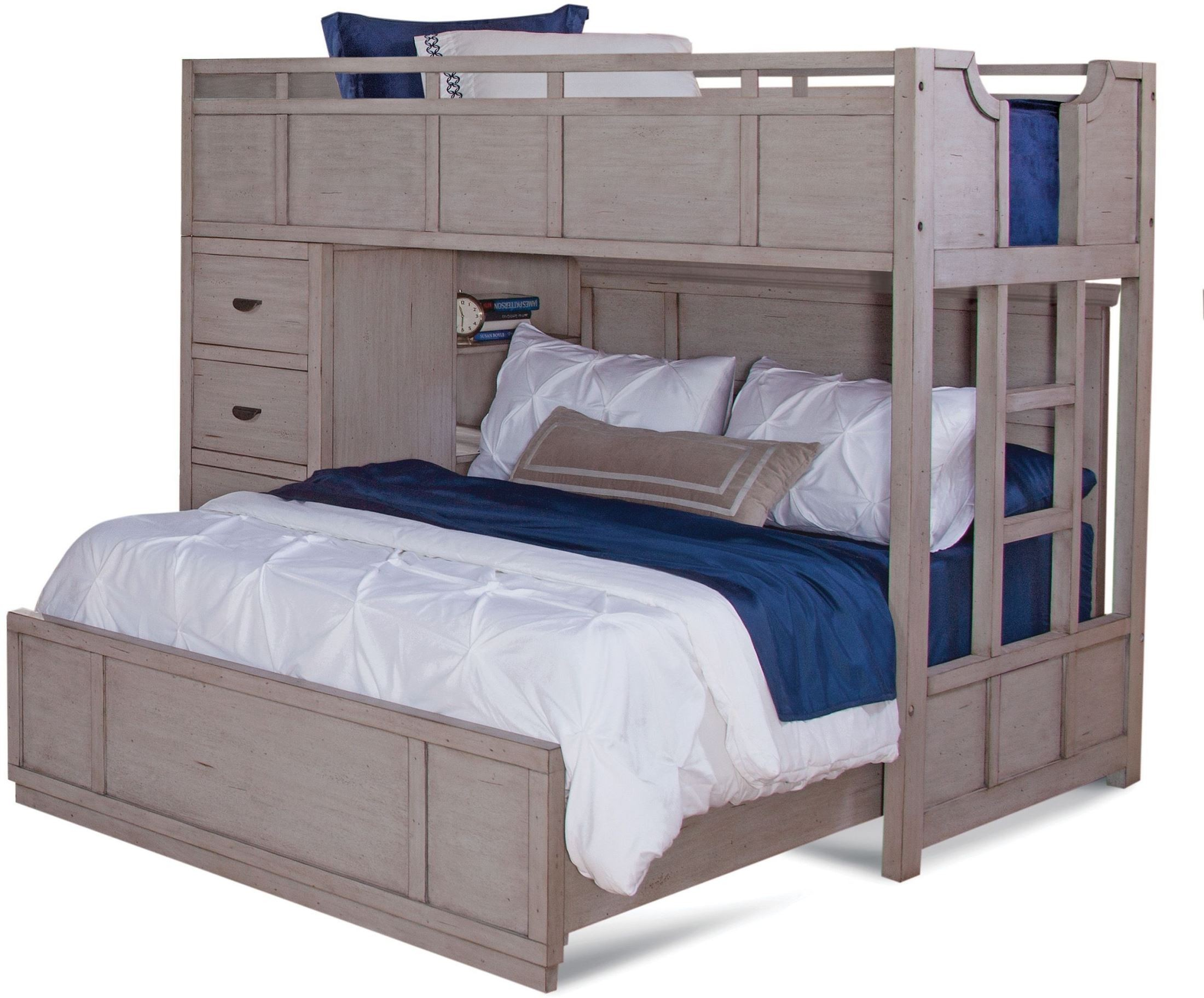 provo driftwood patina twin over full loft bed from american woodcrafters coleman furniture. Black Bedroom Furniture Sets. Home Design Ideas