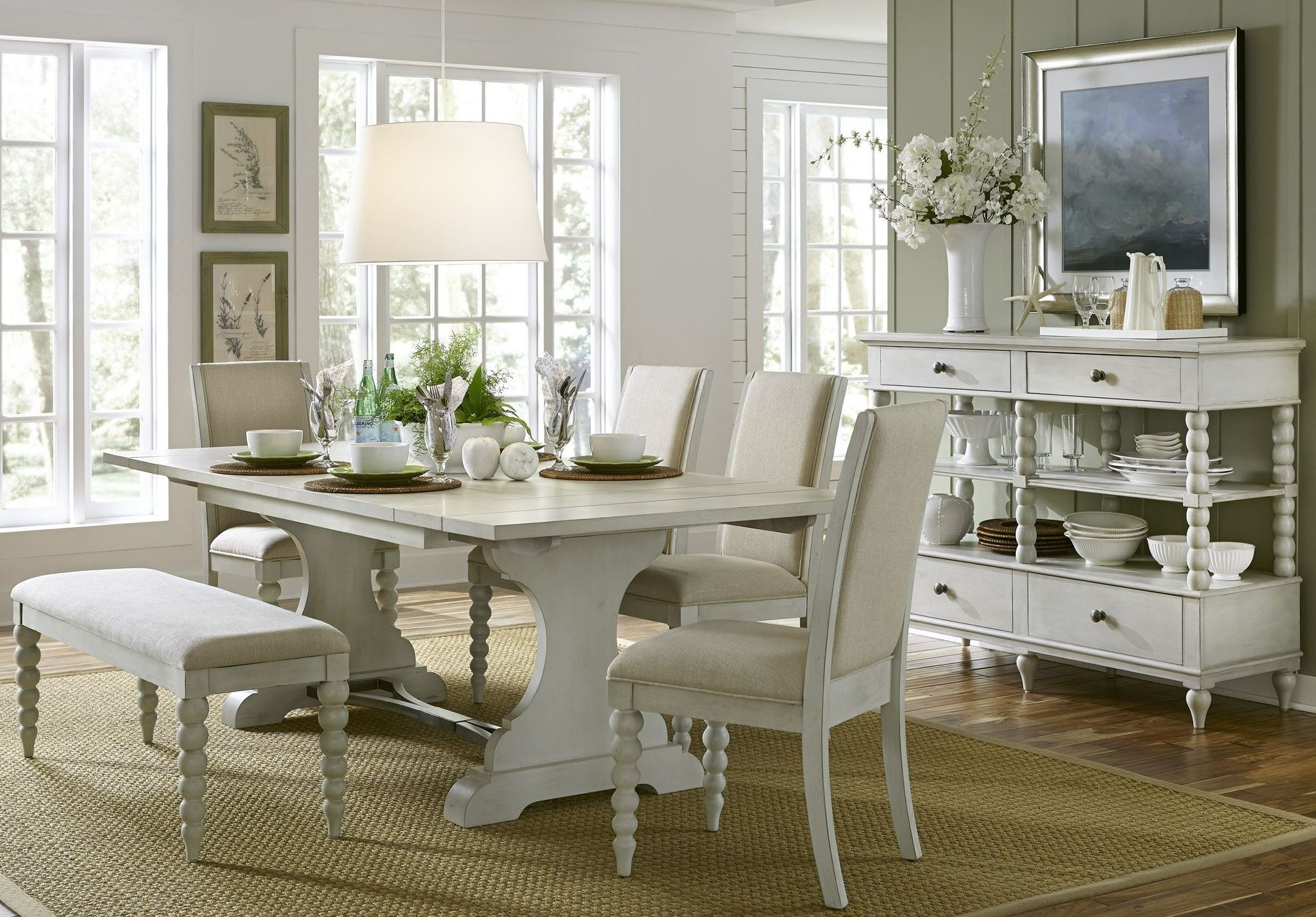 harbor view iii trestle extendable dining room set from liberty extendable dining room set682332 1671913