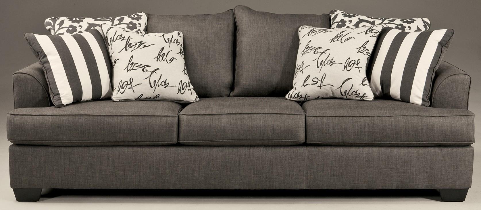 Levon Charcoal Stationary Sofa From Ashley 7340338