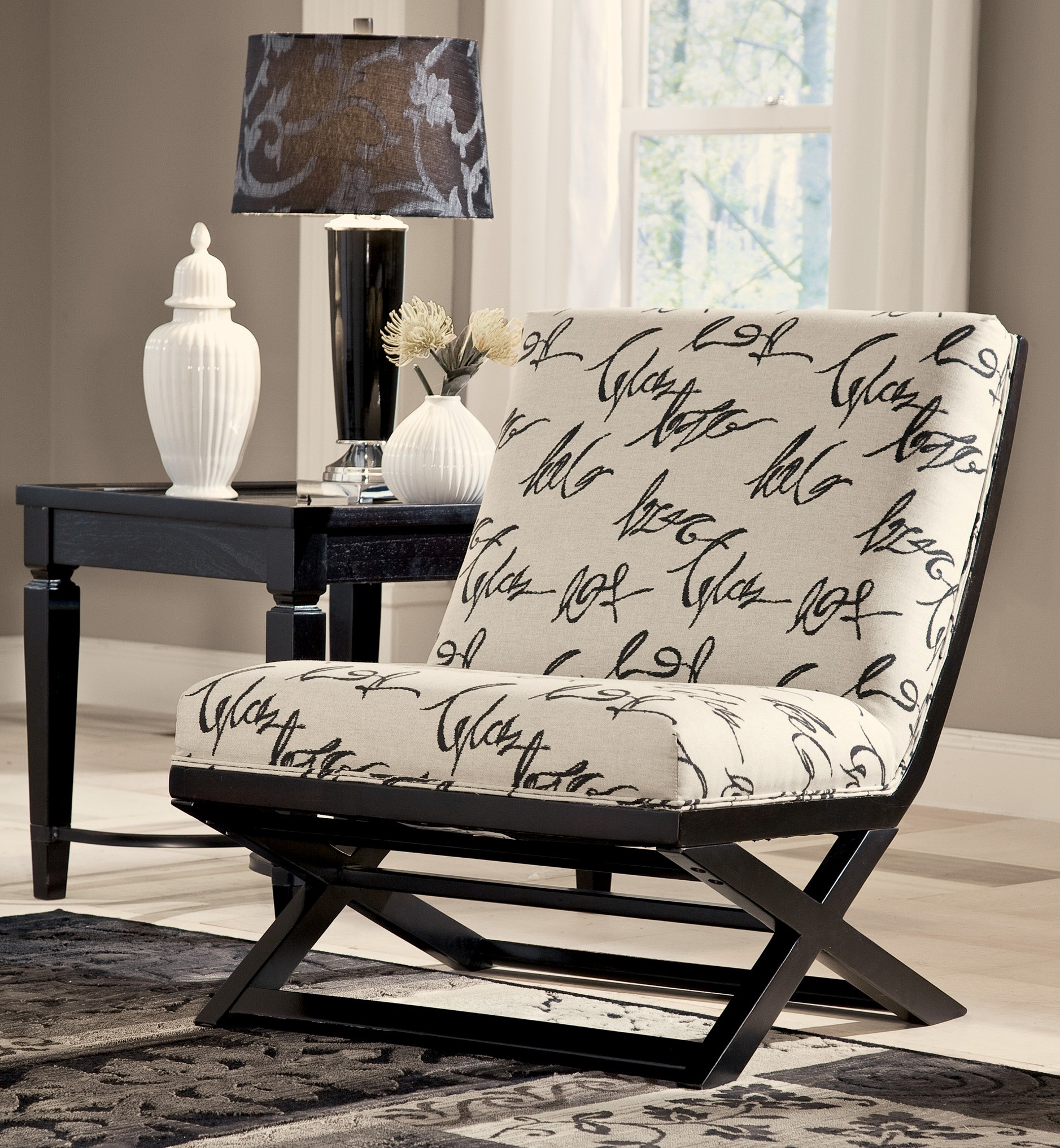 Ashley Furniture Financing Specials: Levon Charcoal Showood Accent Chair From Ashley (7340360