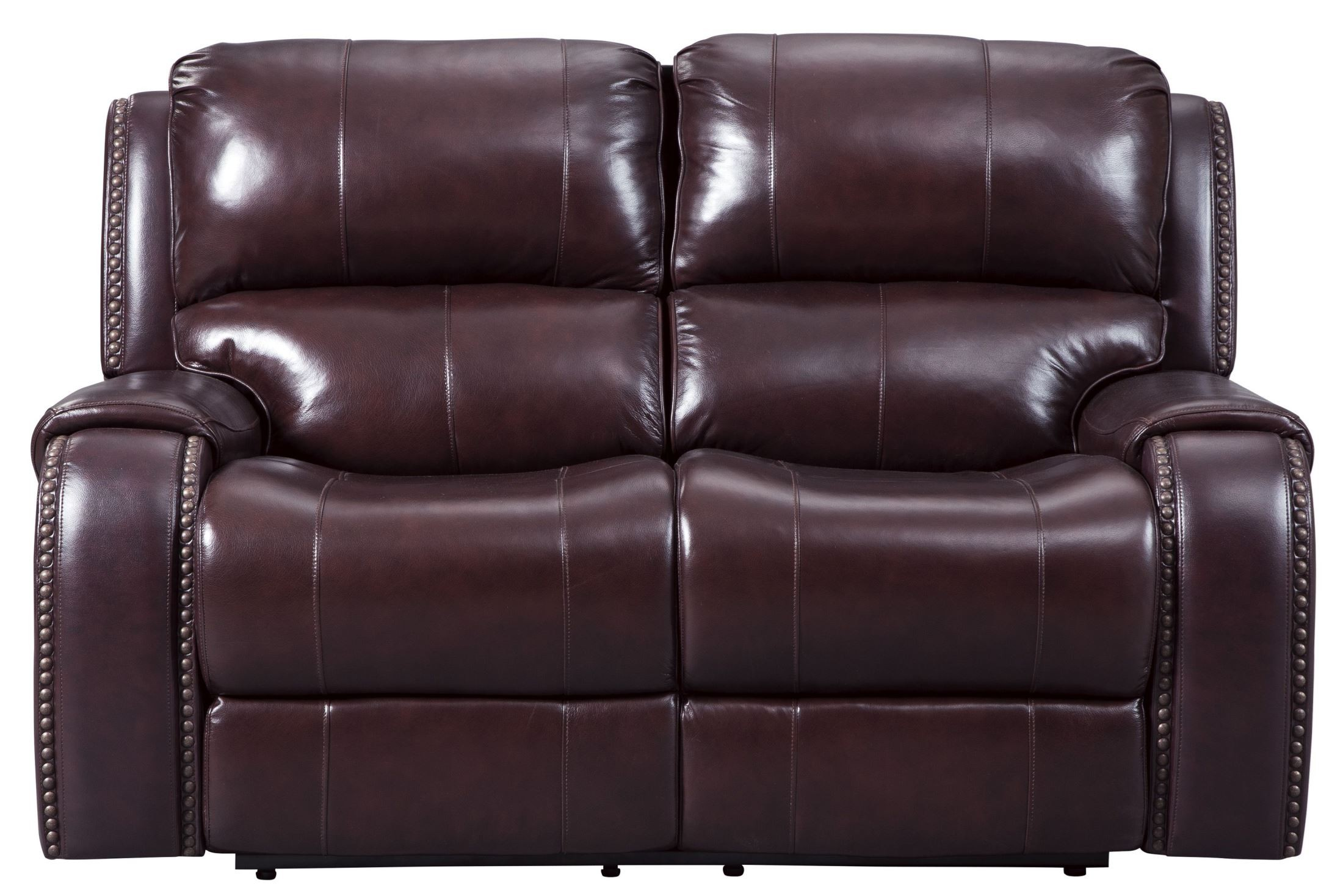 Gilmanton Burgundy Power Reclining Loveseat With