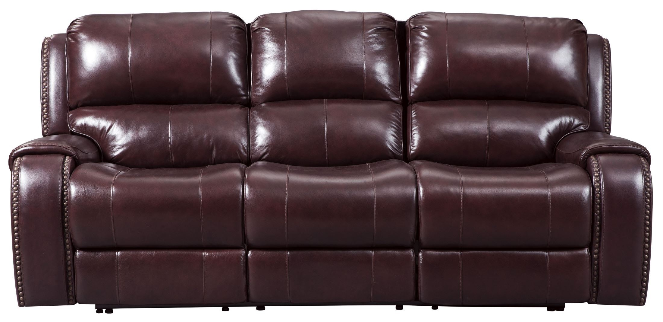 Gilmanton Burgundy Power Reclining Sofa With Adjustable