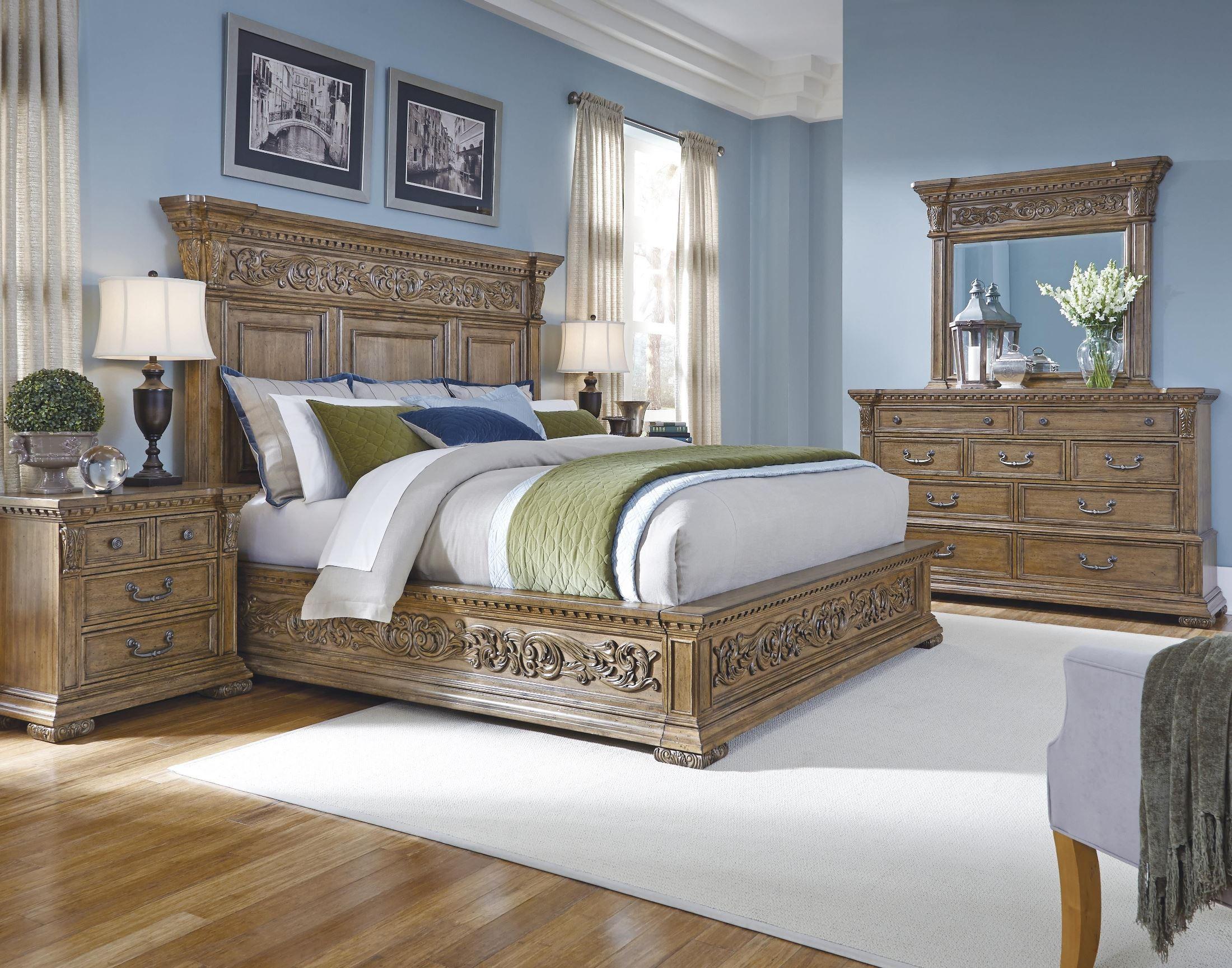 stratton medium wood stratton platform bedroom set from