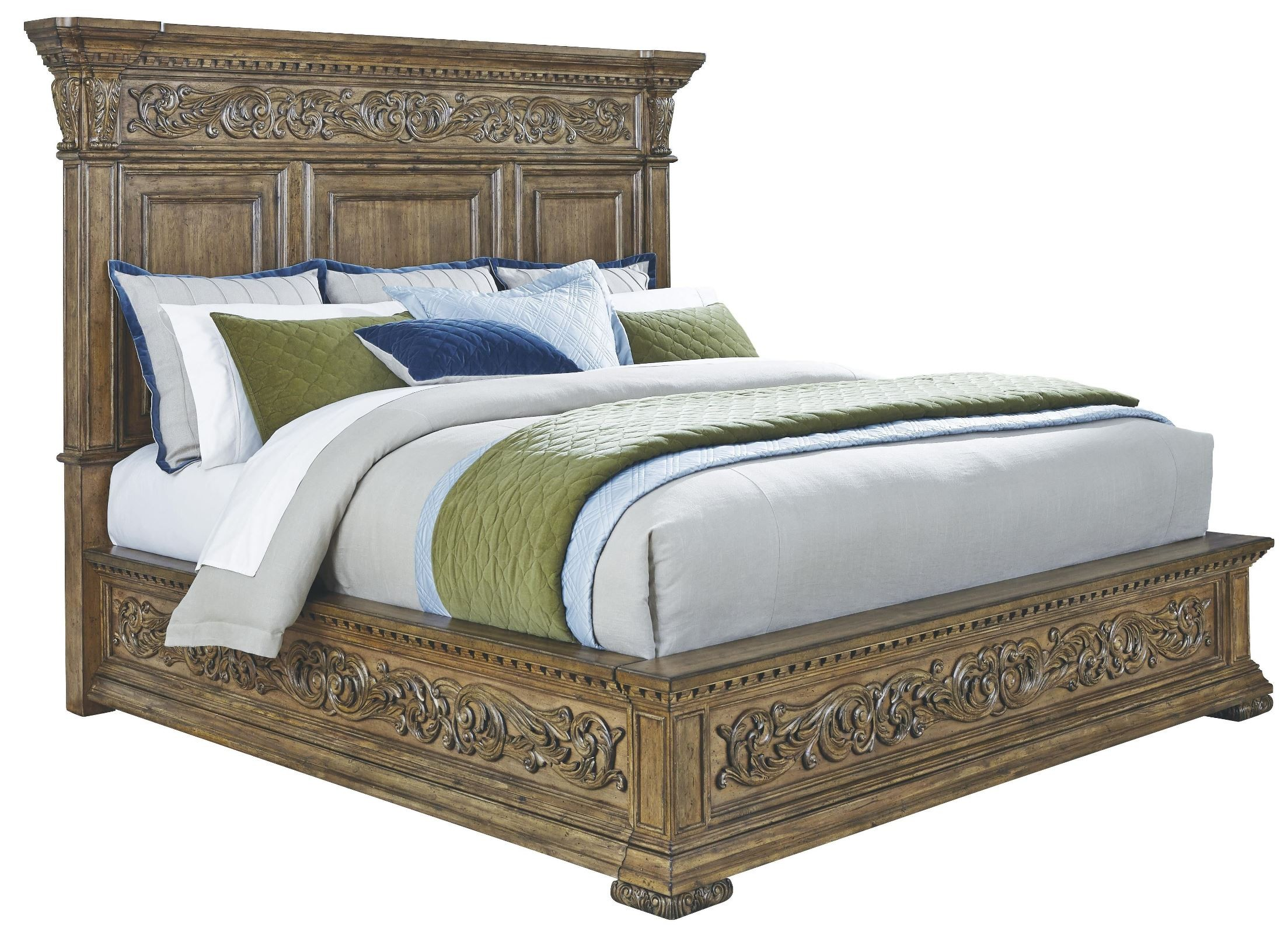 Platform Bed King Wood : Stratton medium wood cal king platform bed from