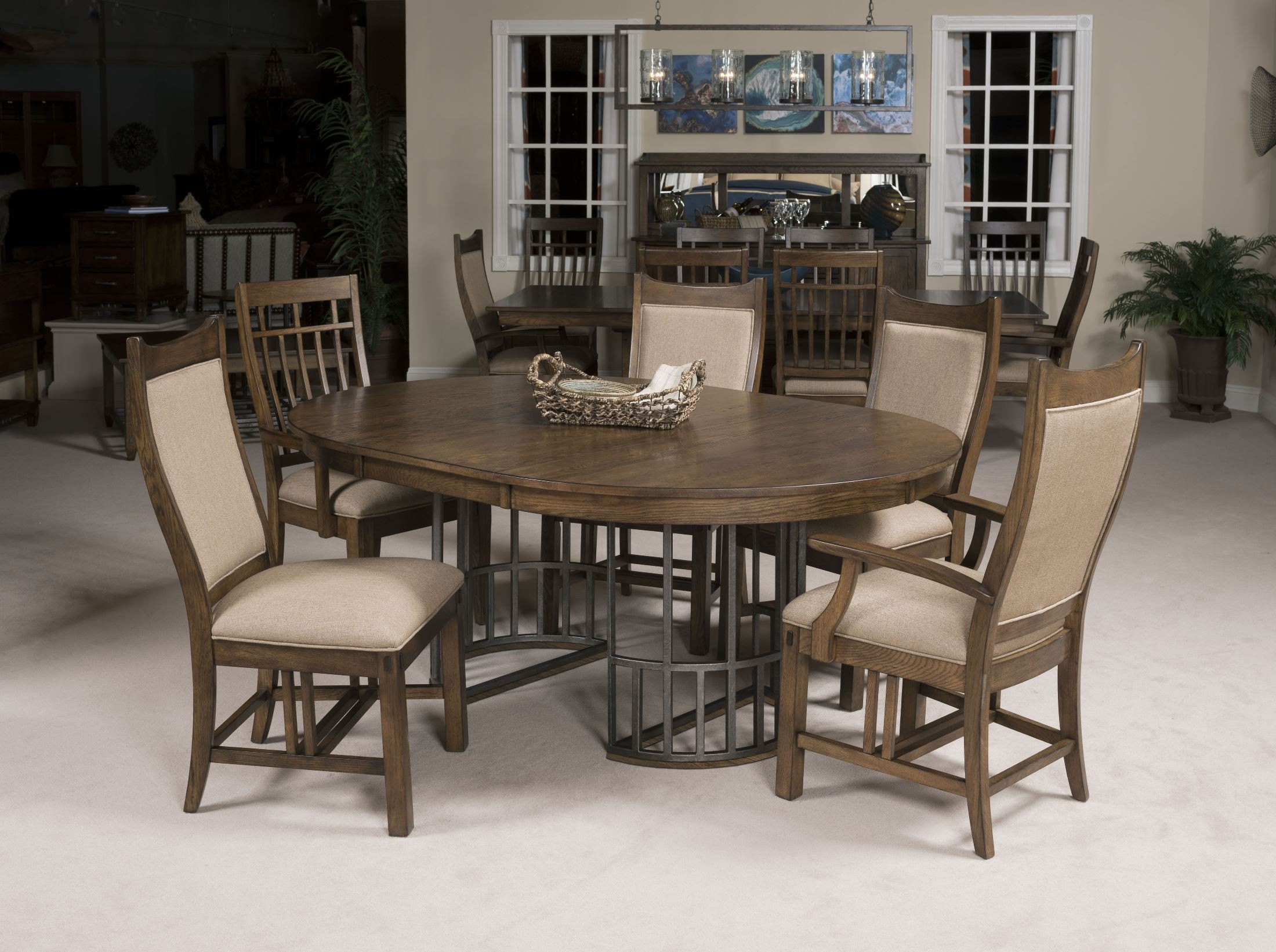 Bedford Park Extendable Round Dining Table From Kincaid