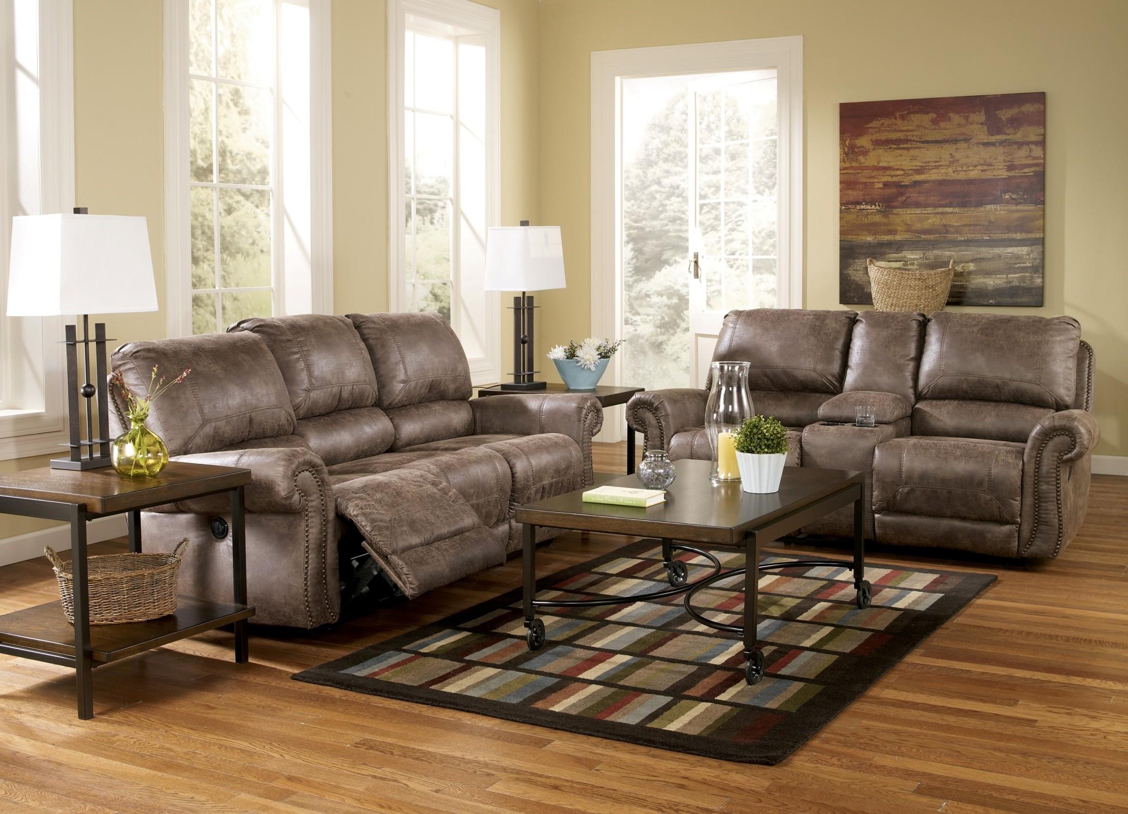 Living Room Sets Austin Tx oberson gunsmoke reclining living room set from ashley (74100