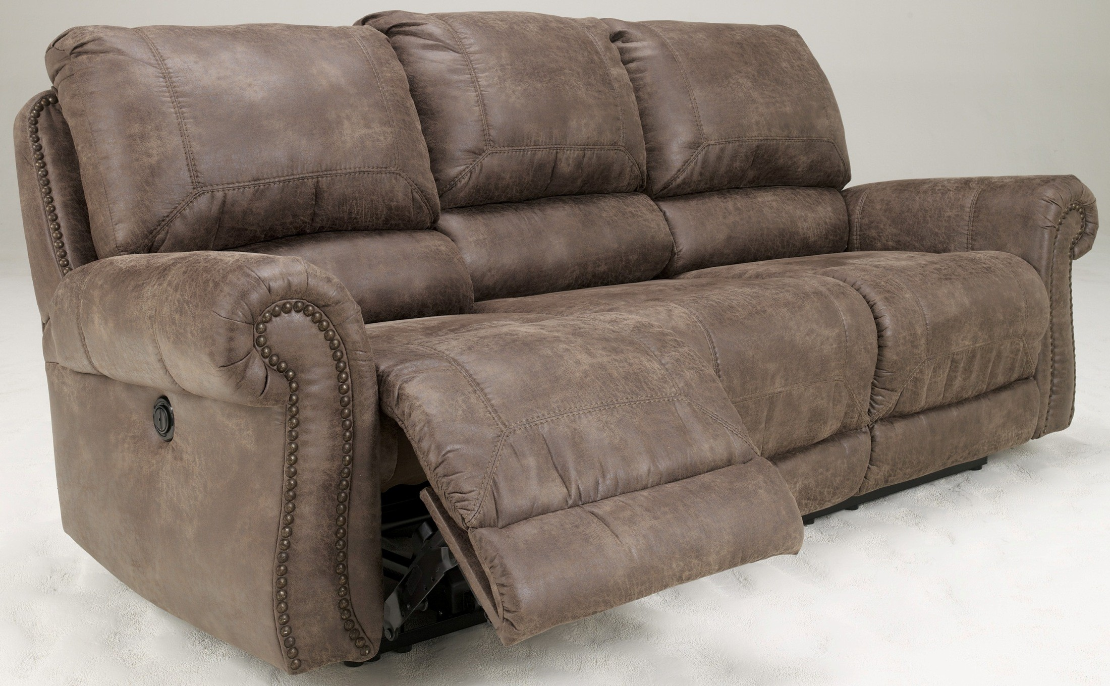 273646 & Oberson Gunsmoke Power Reclining Sofa from Ashley (7410087 ... islam-shia.org