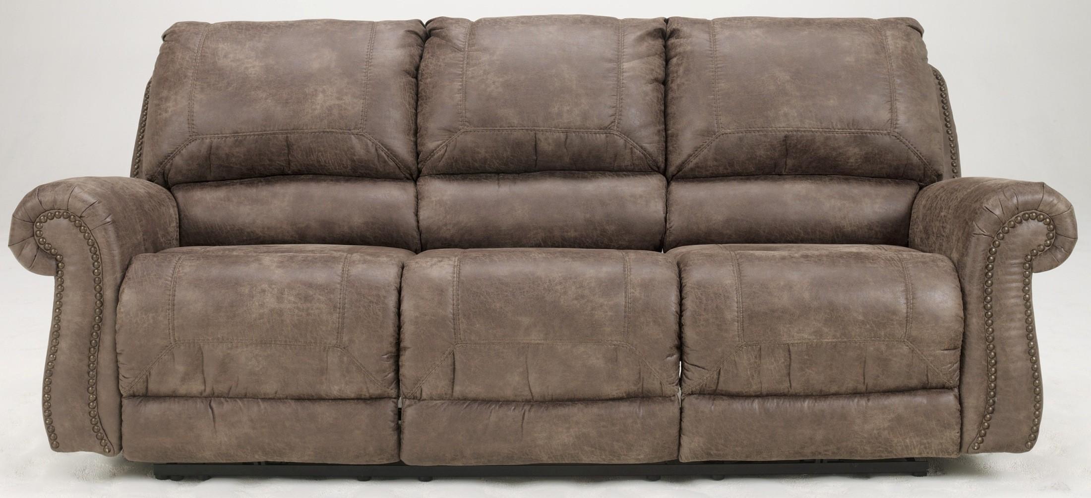 Oberson Gunsmoke Reclining Sofa From Ashley 7410088