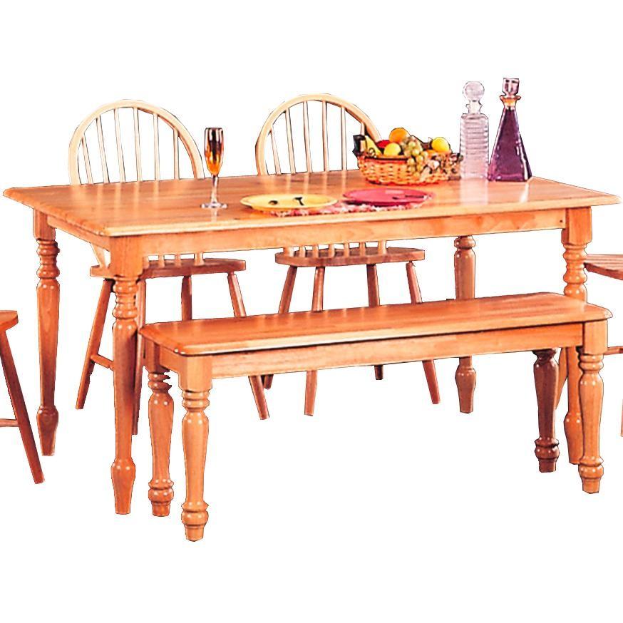 damen warm natural rectangular dining table from coaster 4361 coleman furniture. Black Bedroom Furniture Sets. Home Design Ideas