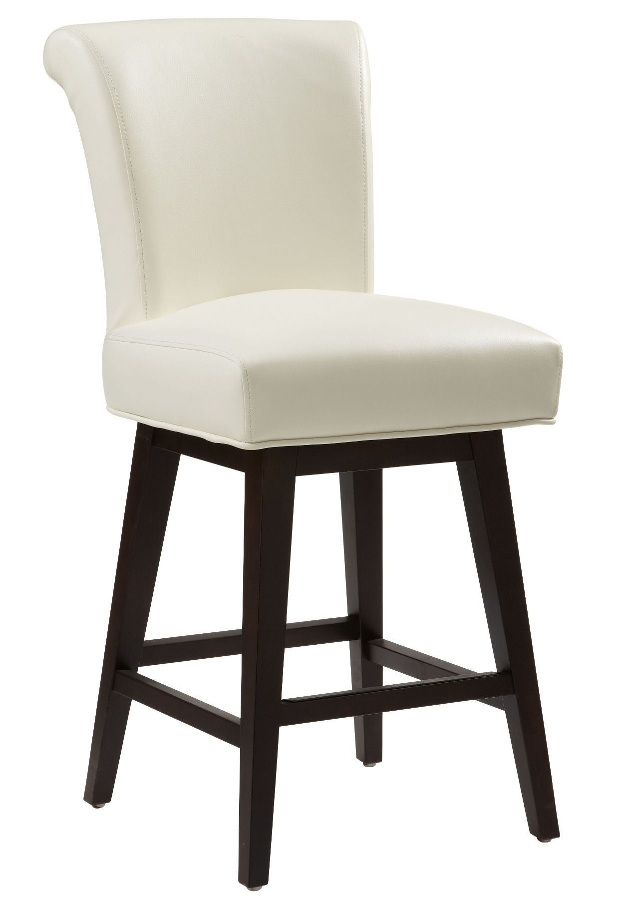White Faux Leather Kitchen Chairs