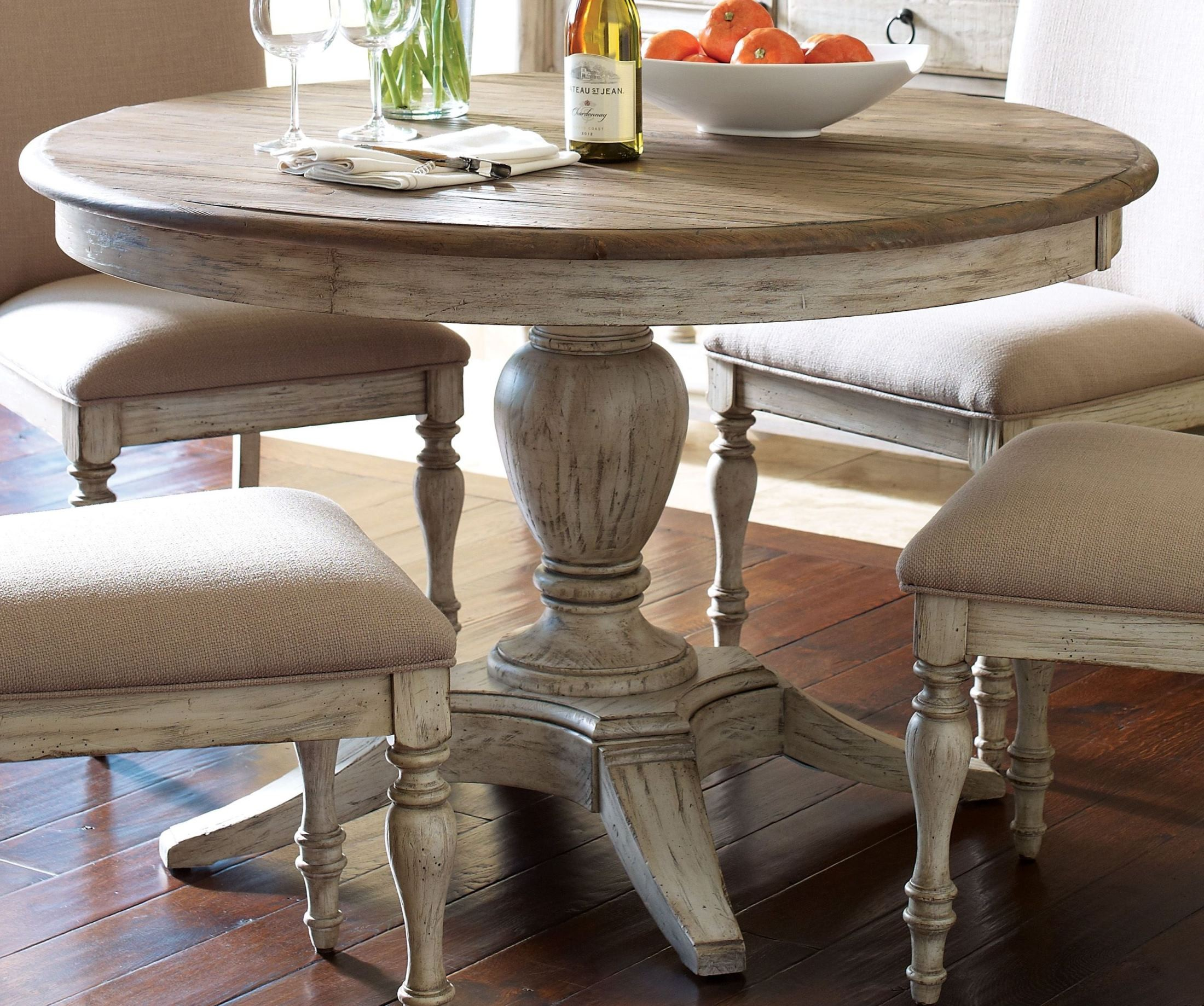 Weatherford Cornsilk Milford Round Dining Room Set From