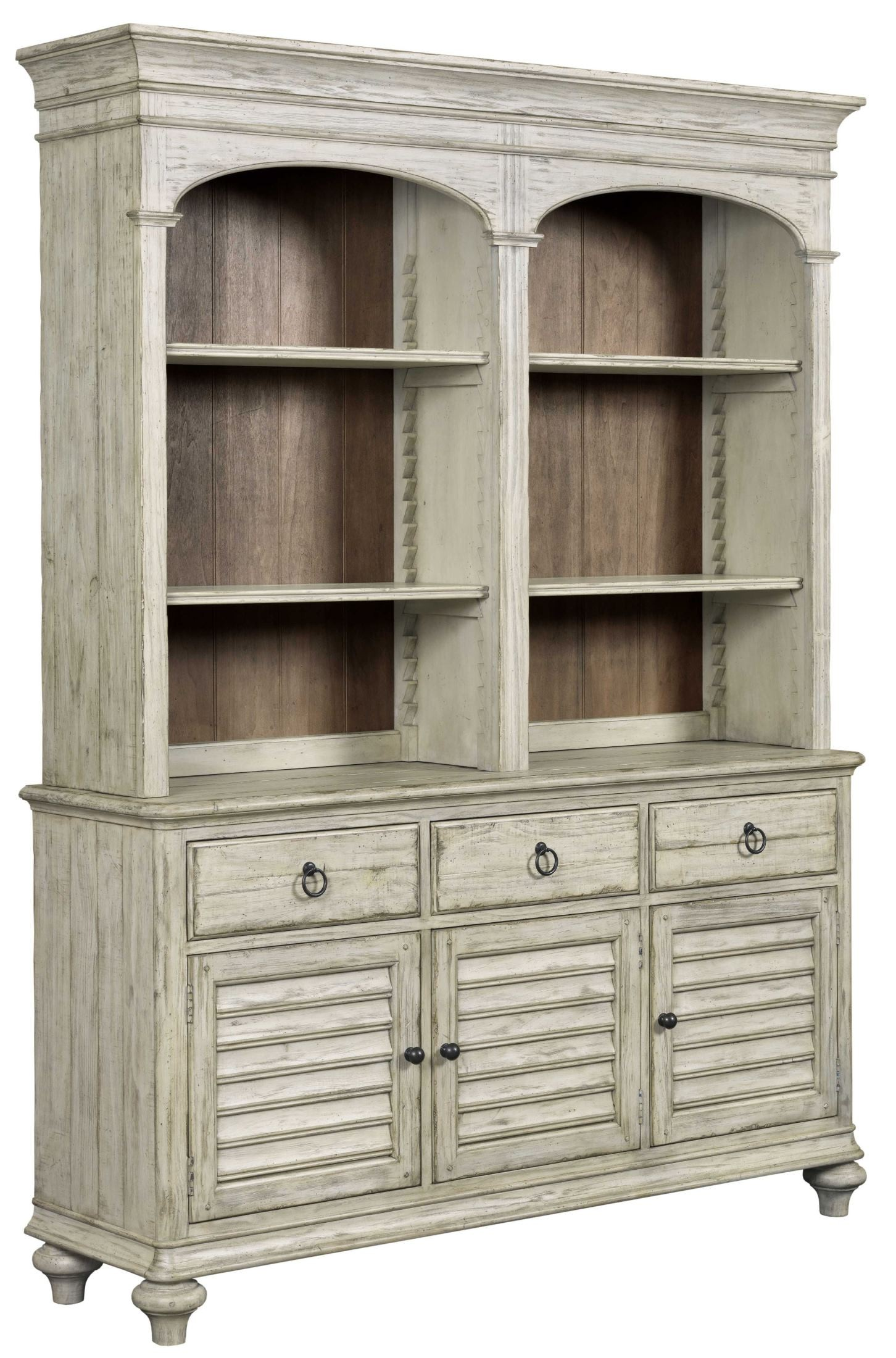 weatherford cornsilk hastings open buffet with hutch from