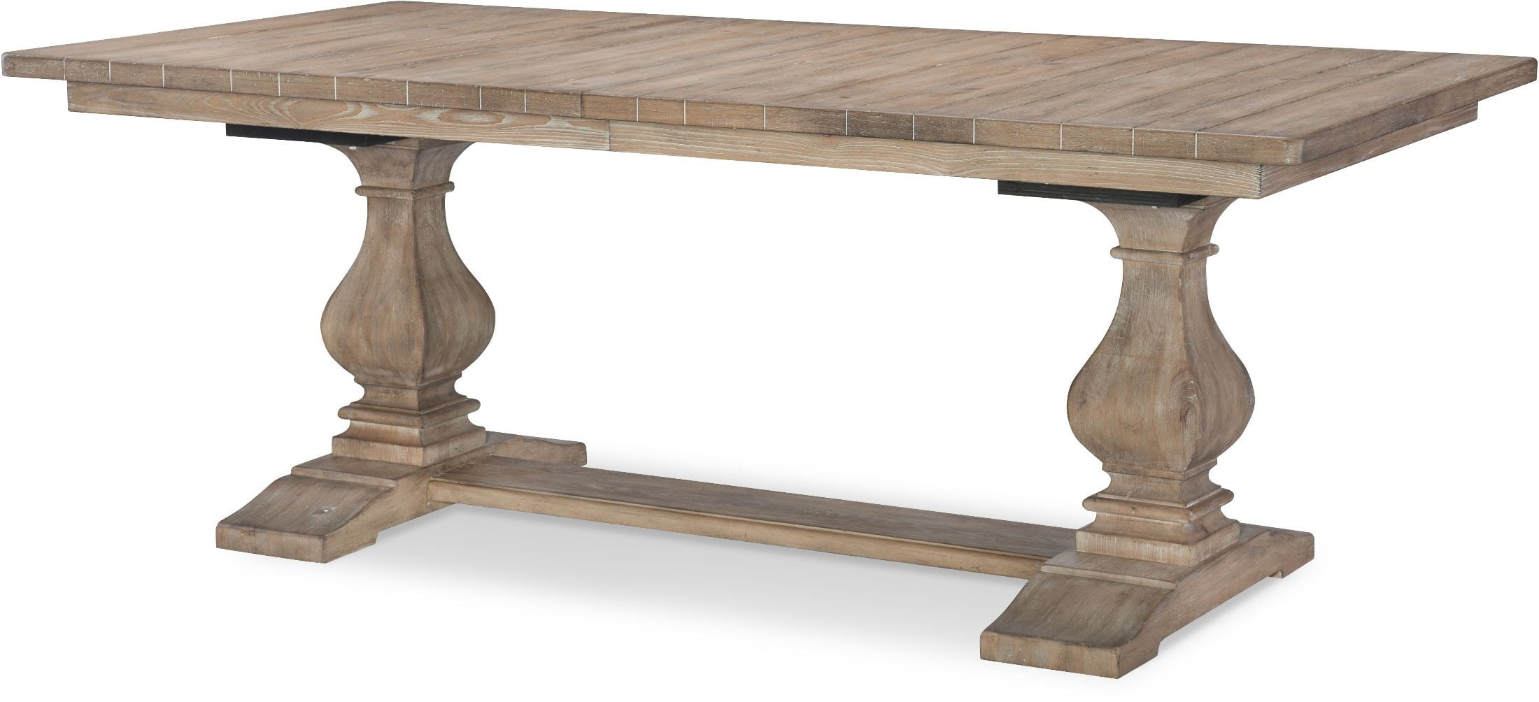 Monteverdi Sun Bleached Cypress Rectangular Trestle Dining Table From  Rachael Ray Home | Coleman Furniture