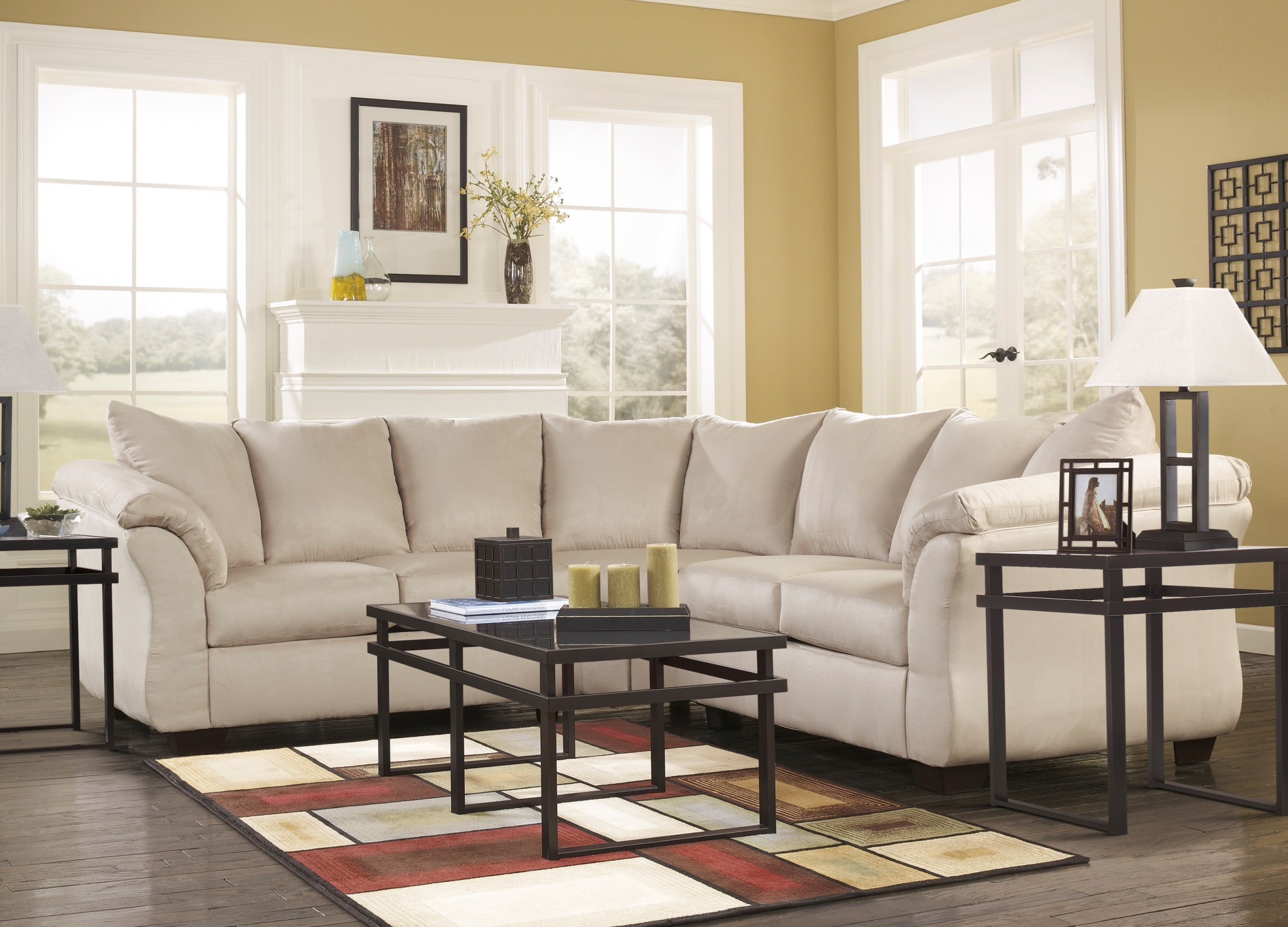 Darcy Stone Sectional From Ashley 75000 55 56 Coleman Furniture
