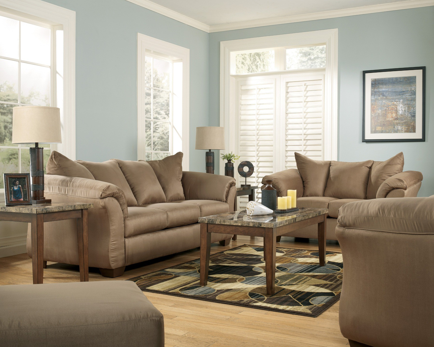 Darcy Mocha Living Room Set From Ashley 75002 Coleman
