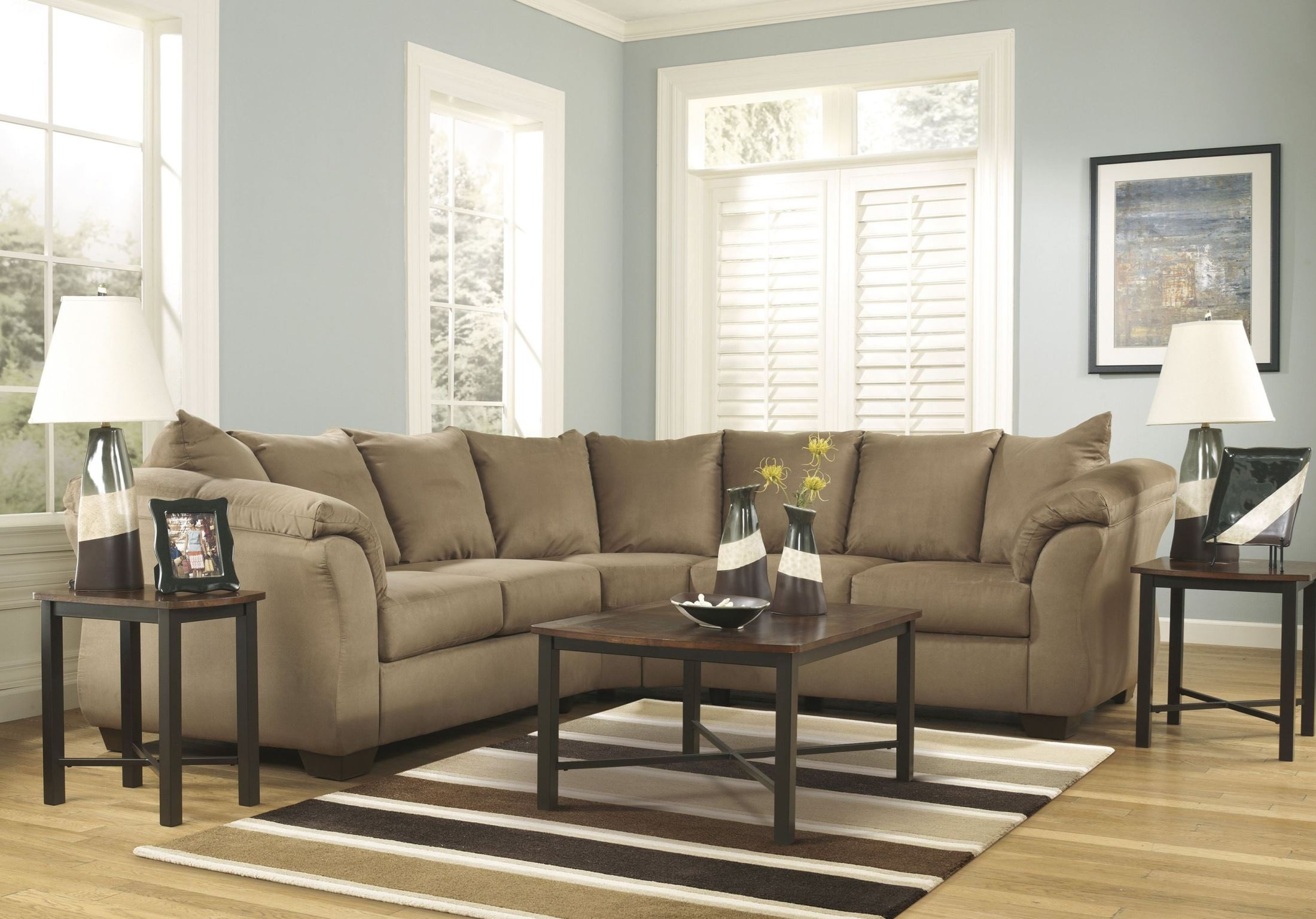 Darcy Mocha Sectional from Ashley (75002-55-56)   Coleman ...